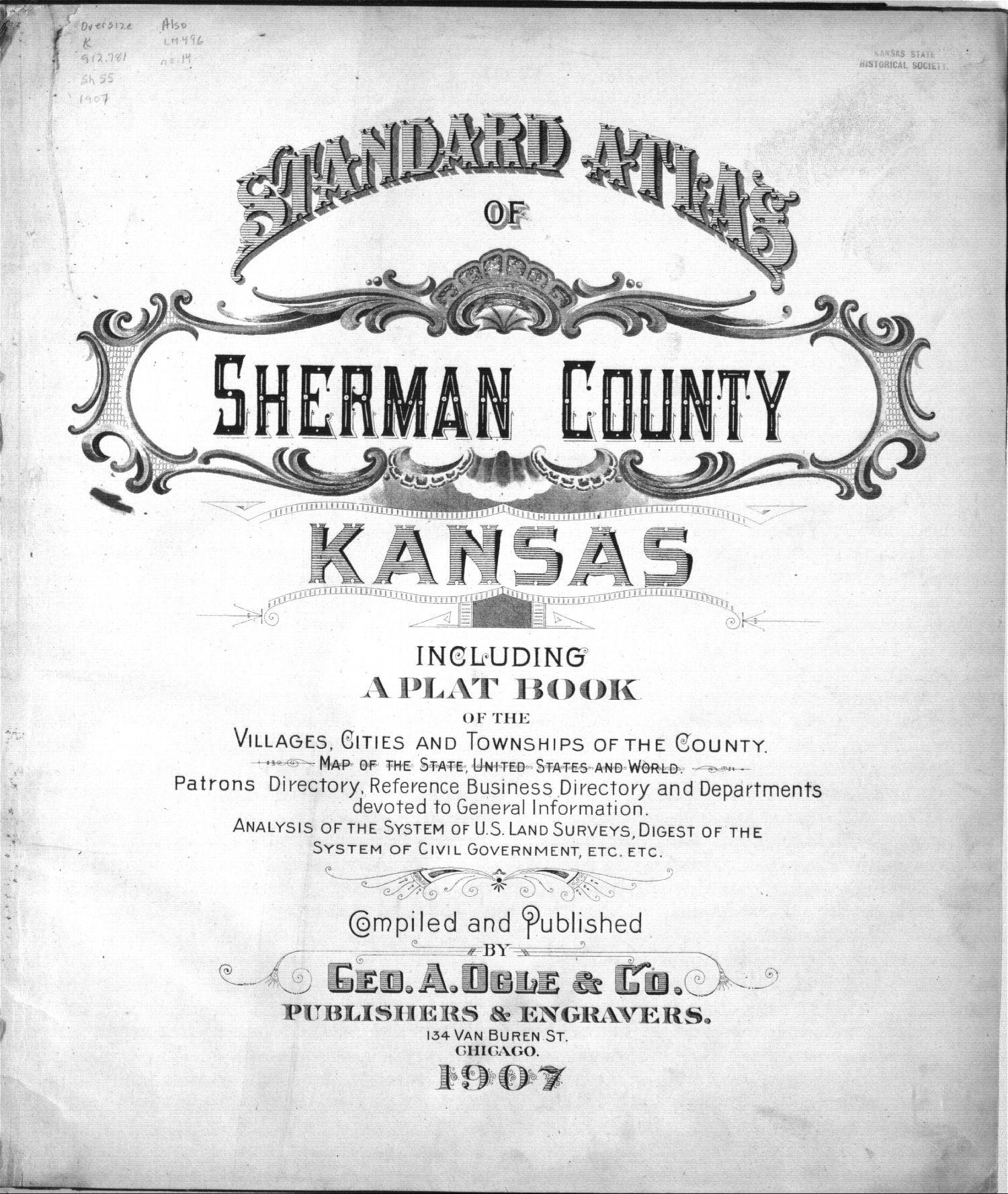 Standard atlas of Sherman County, Kansas - Title Page