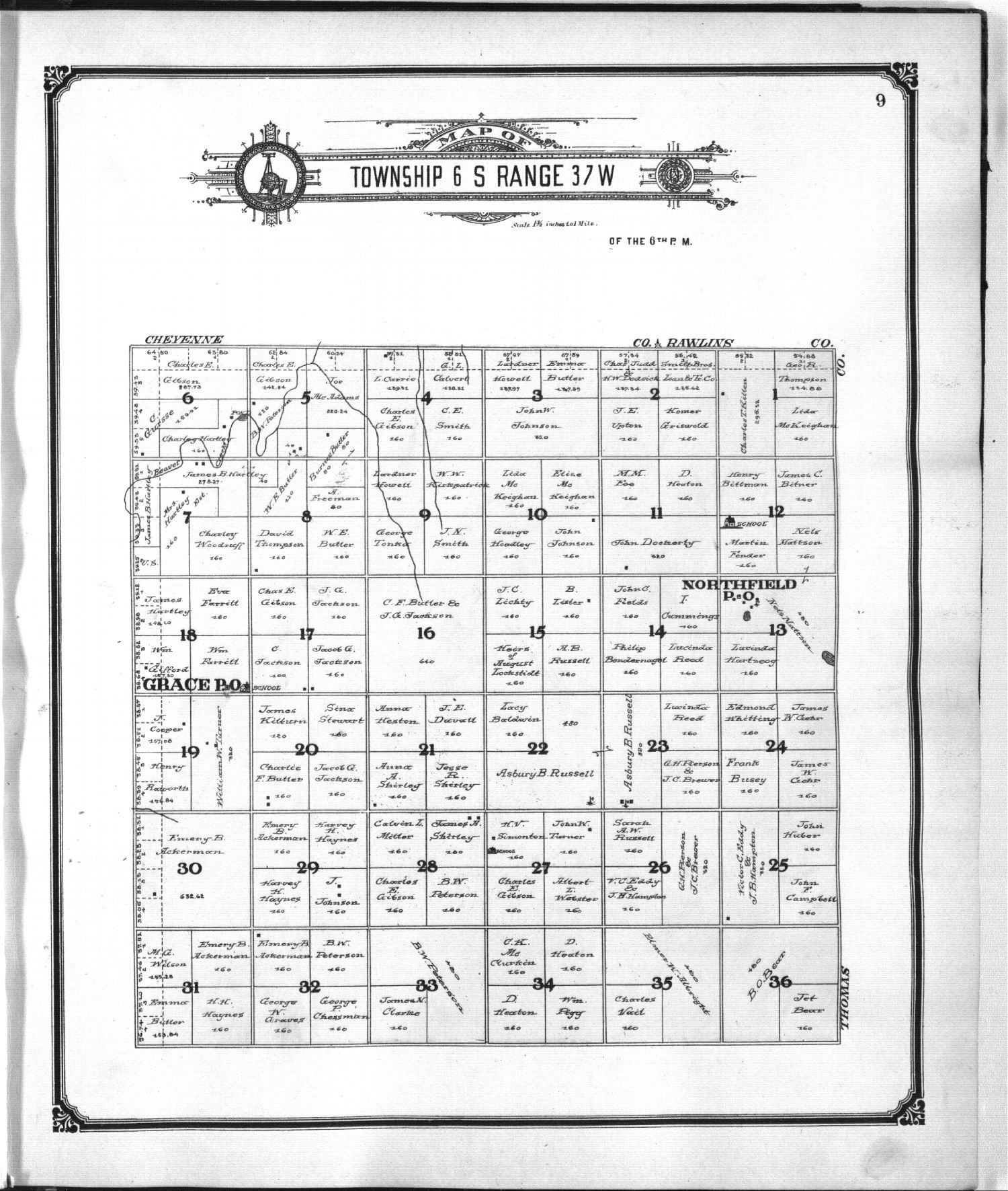 Standard atlas of Sherman County, Kansas - 9