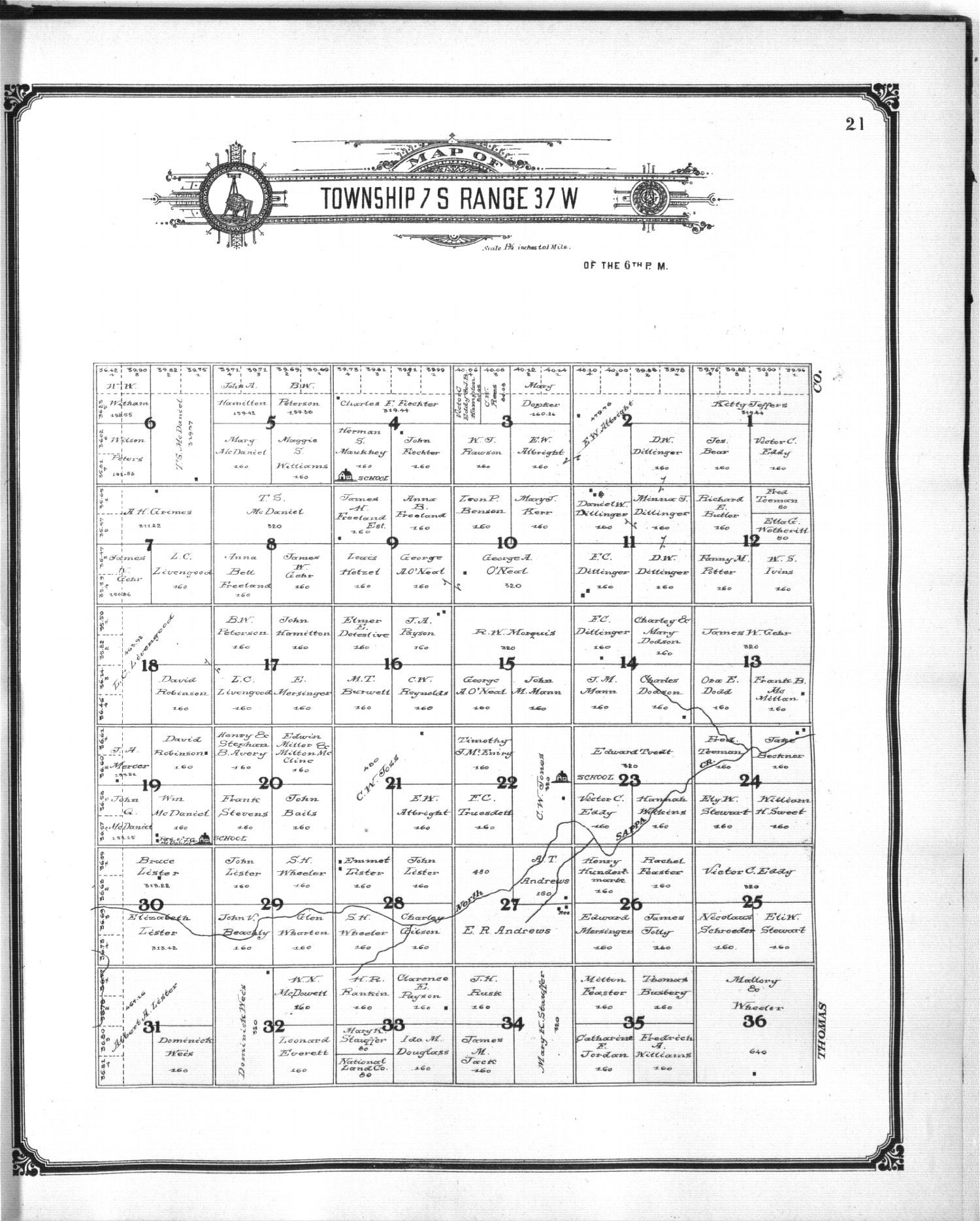 Standard atlas of Sherman County, Kansas - 21