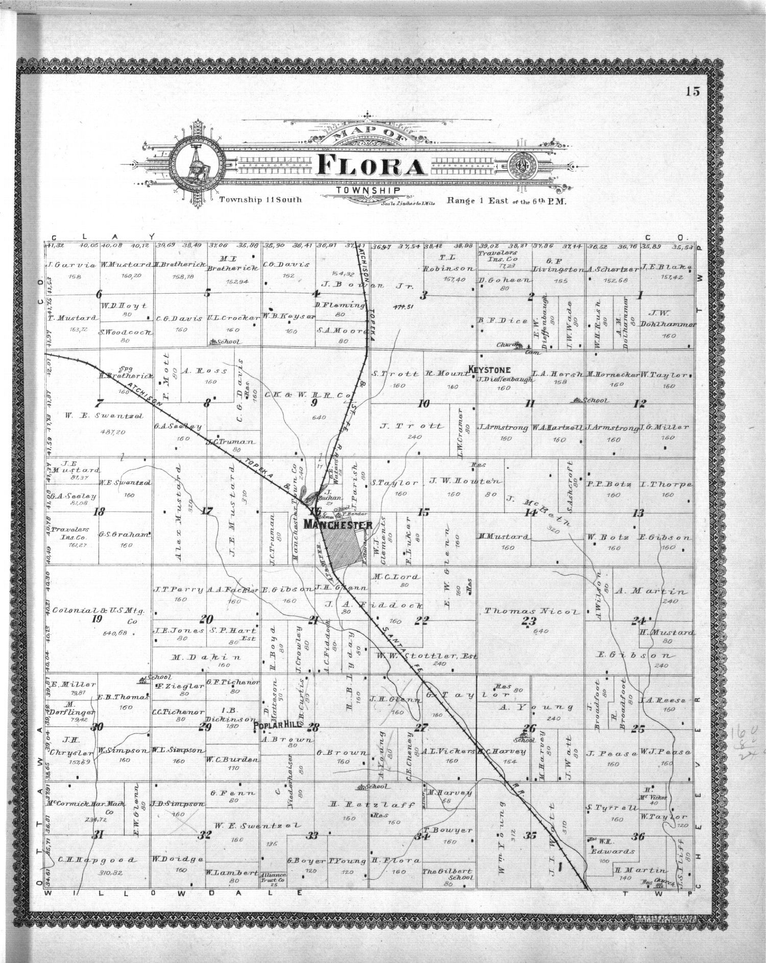 Standard atlas, Dickinson County, Kansas - 15