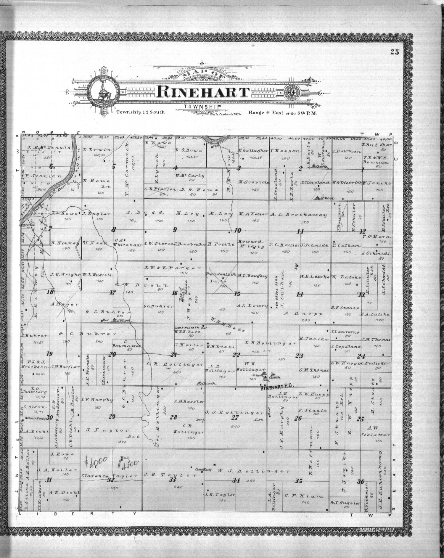 Standard atlas, Dickinson County, Kansas - 25