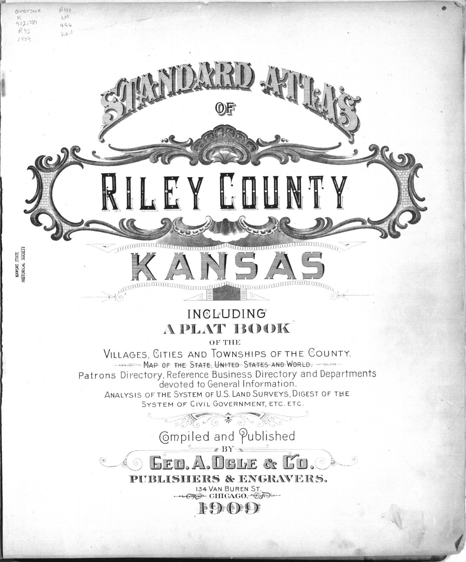 Standard atlas of Riley County, Kansas - Title Page