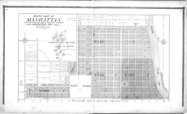 Standard atlas of Riley County, Kansas - 10 & 11