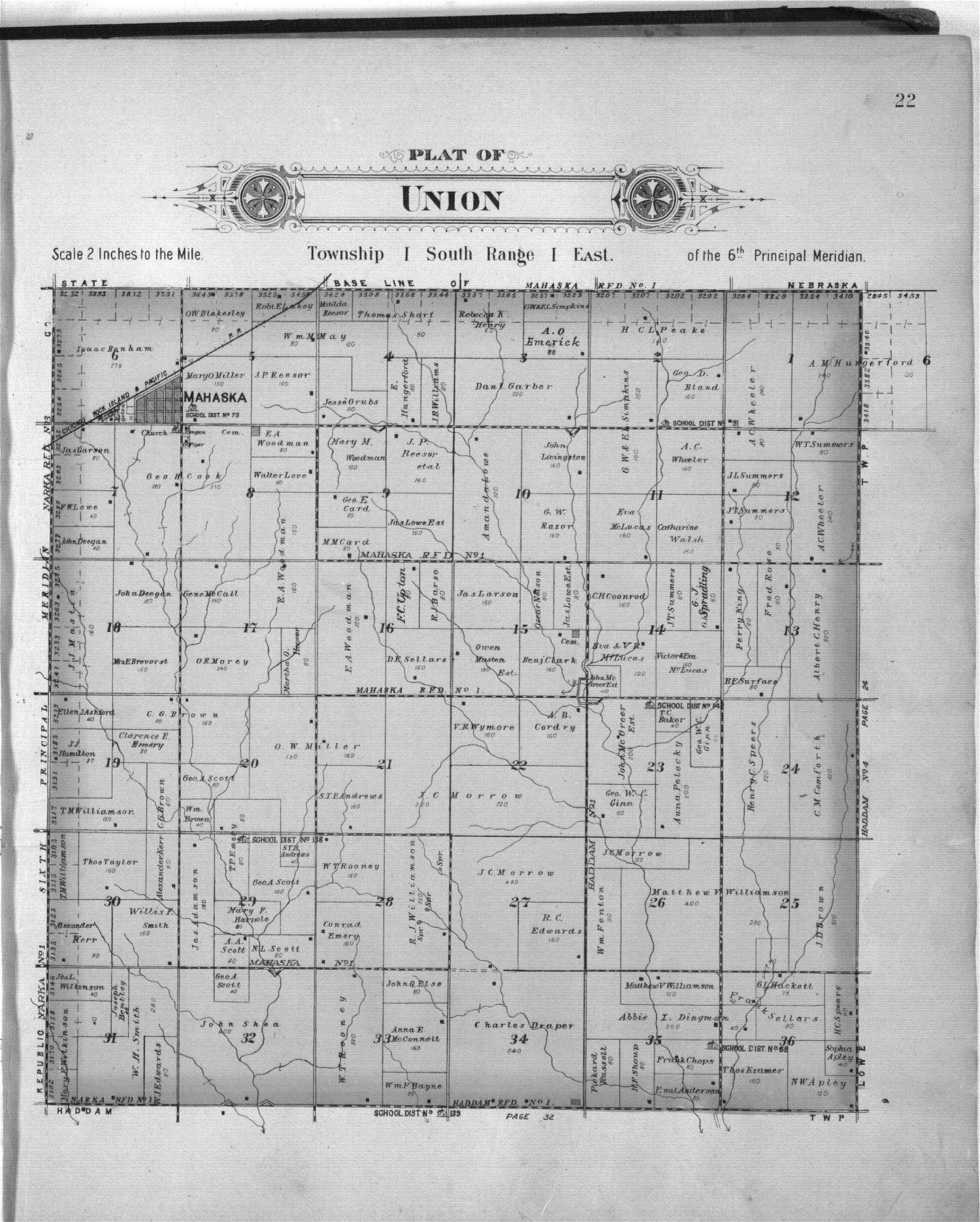 Plat book of Washington County, Kansas - 22