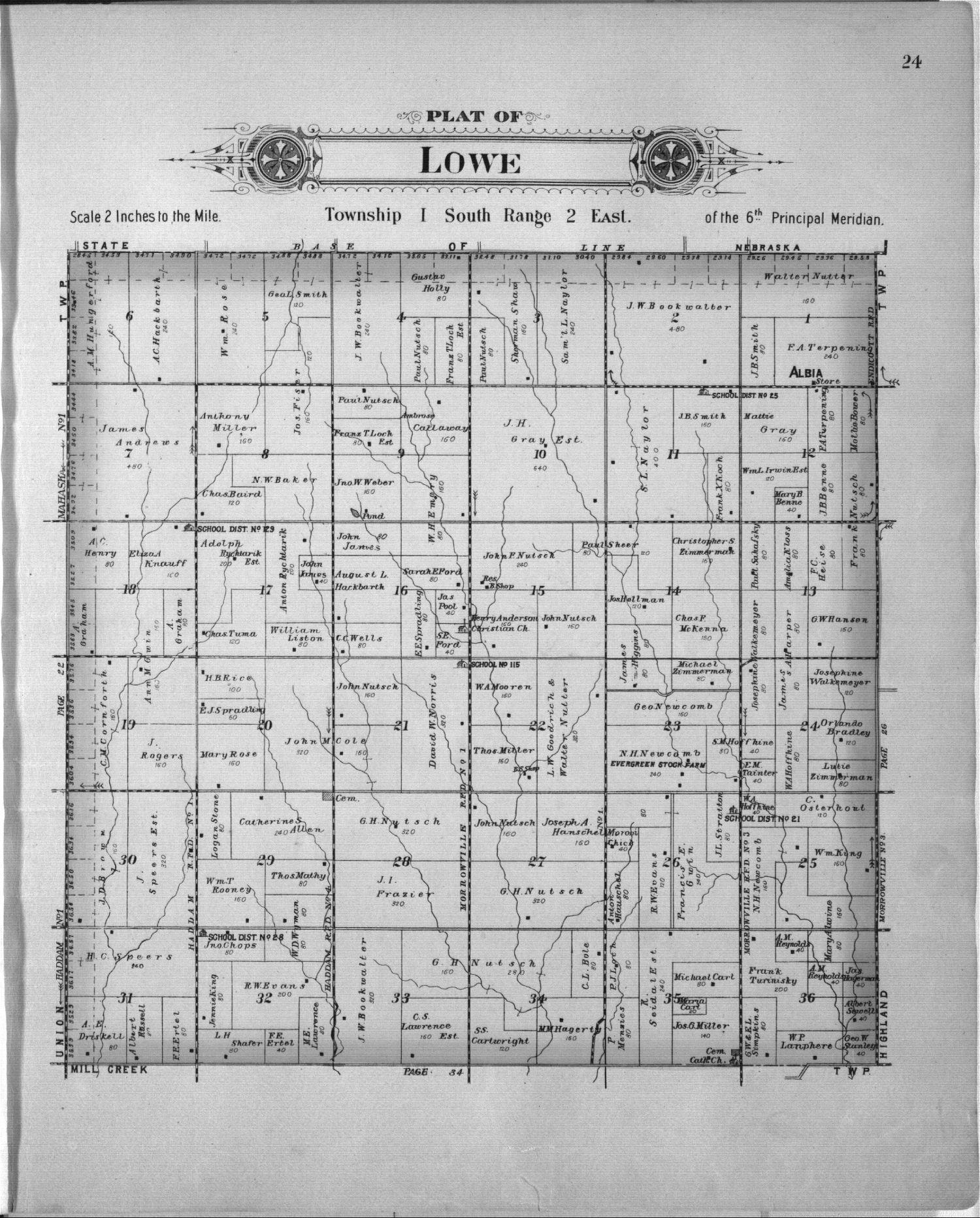 Plat book of Washington County, Kansas - 24