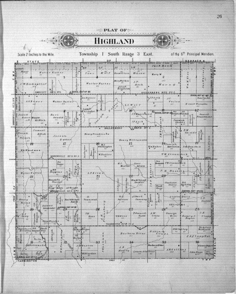 Plat book of Washington County, Kansas - 26