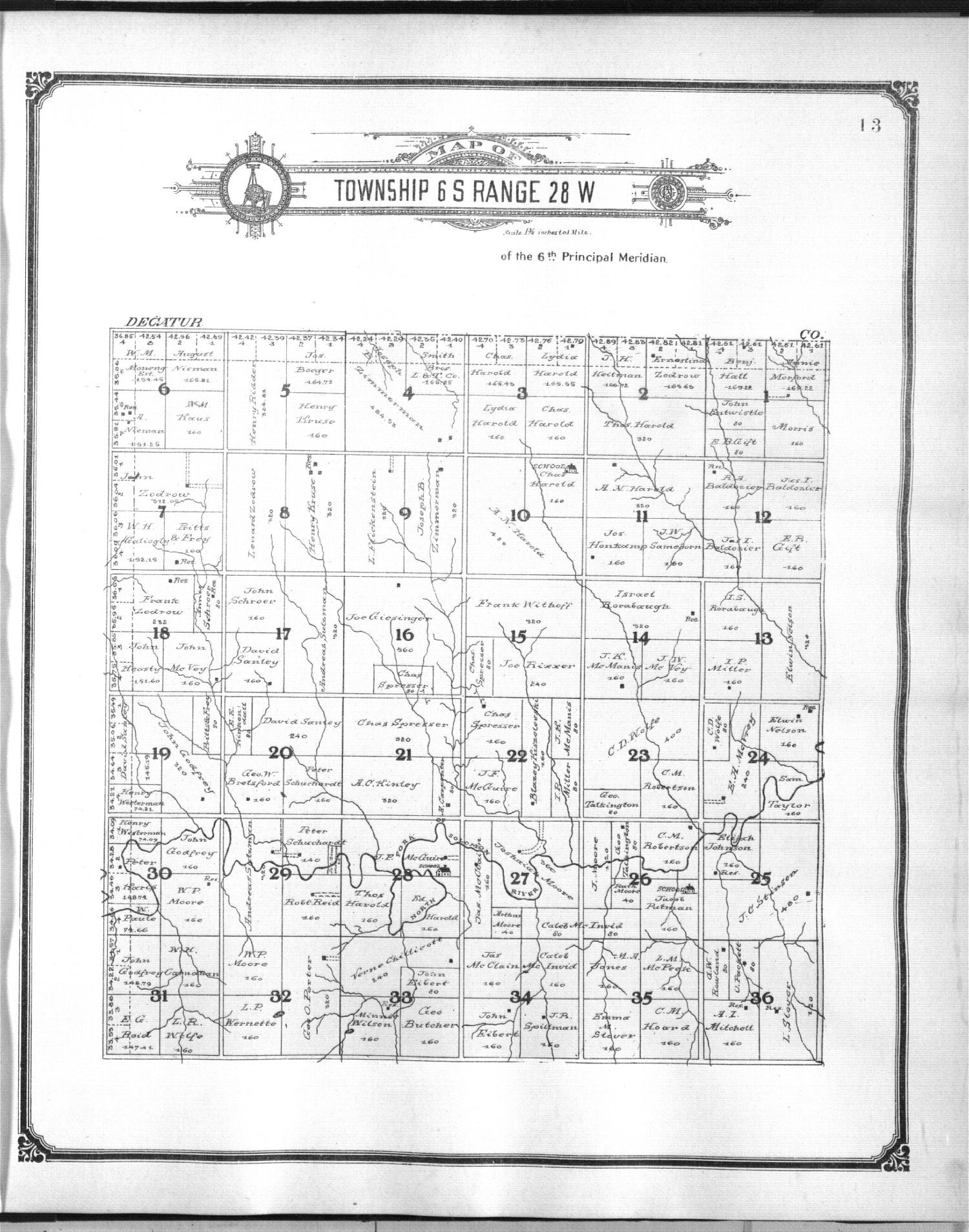 Standard atlas of Sheridan County, Kansas - 6