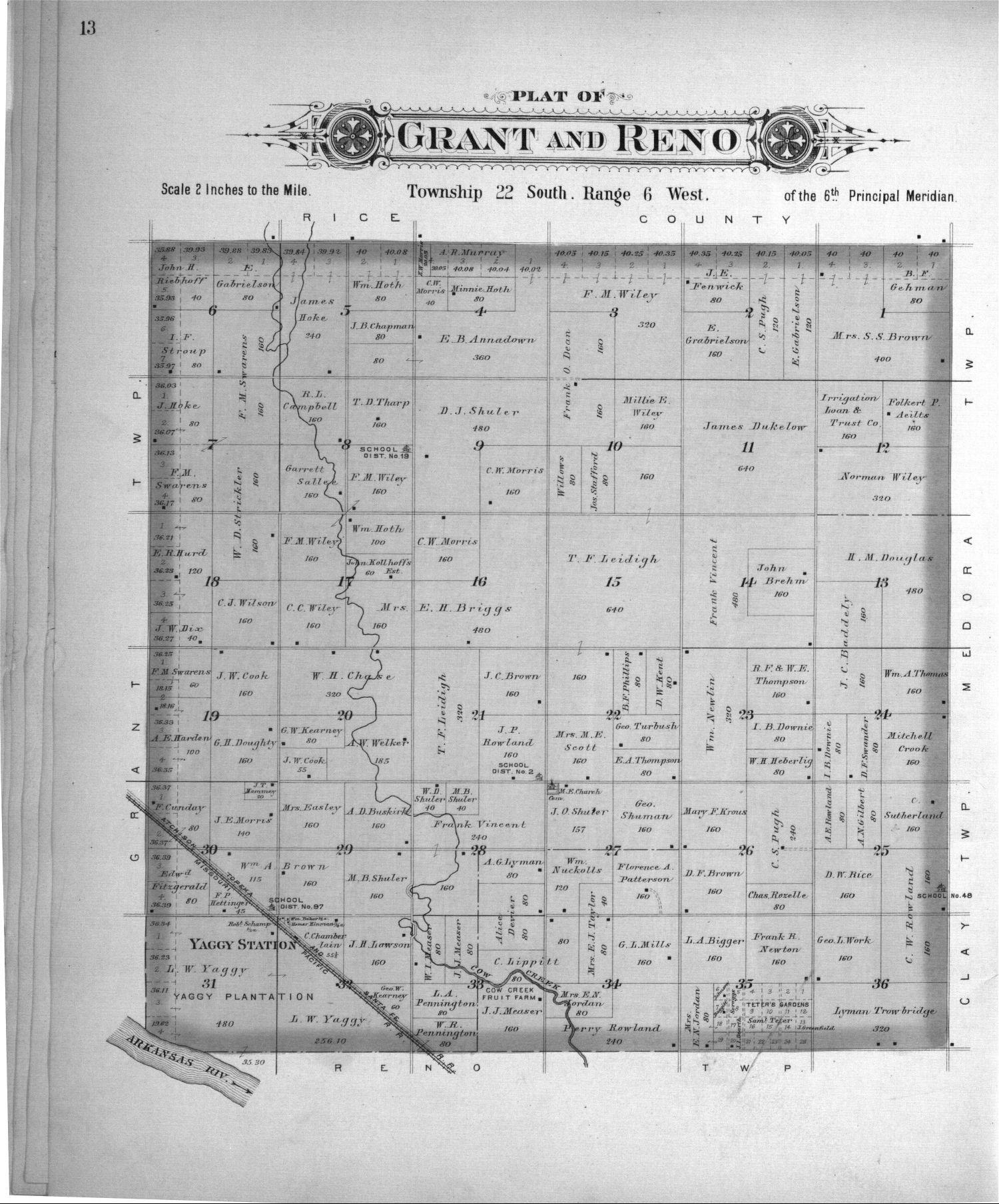 Plat book of Reno County, Kansas - 13