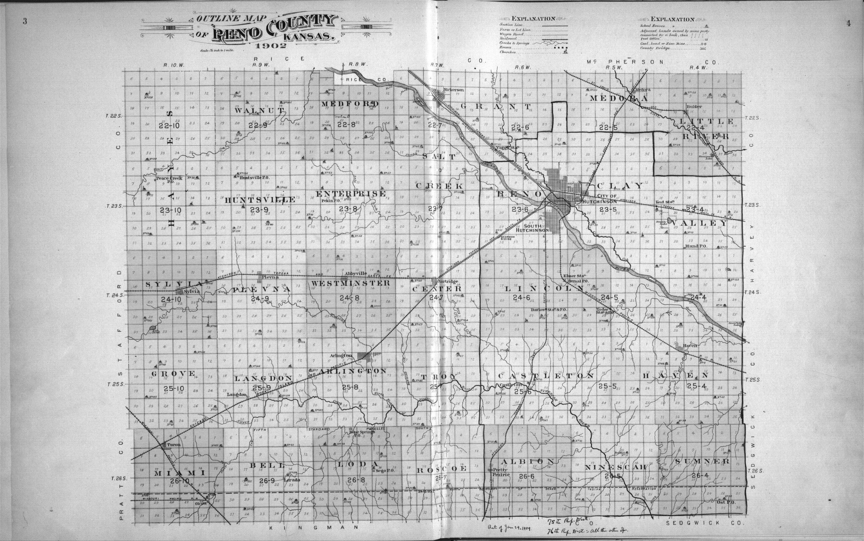 Plat book of Reno County, Kansas - 3 & 4