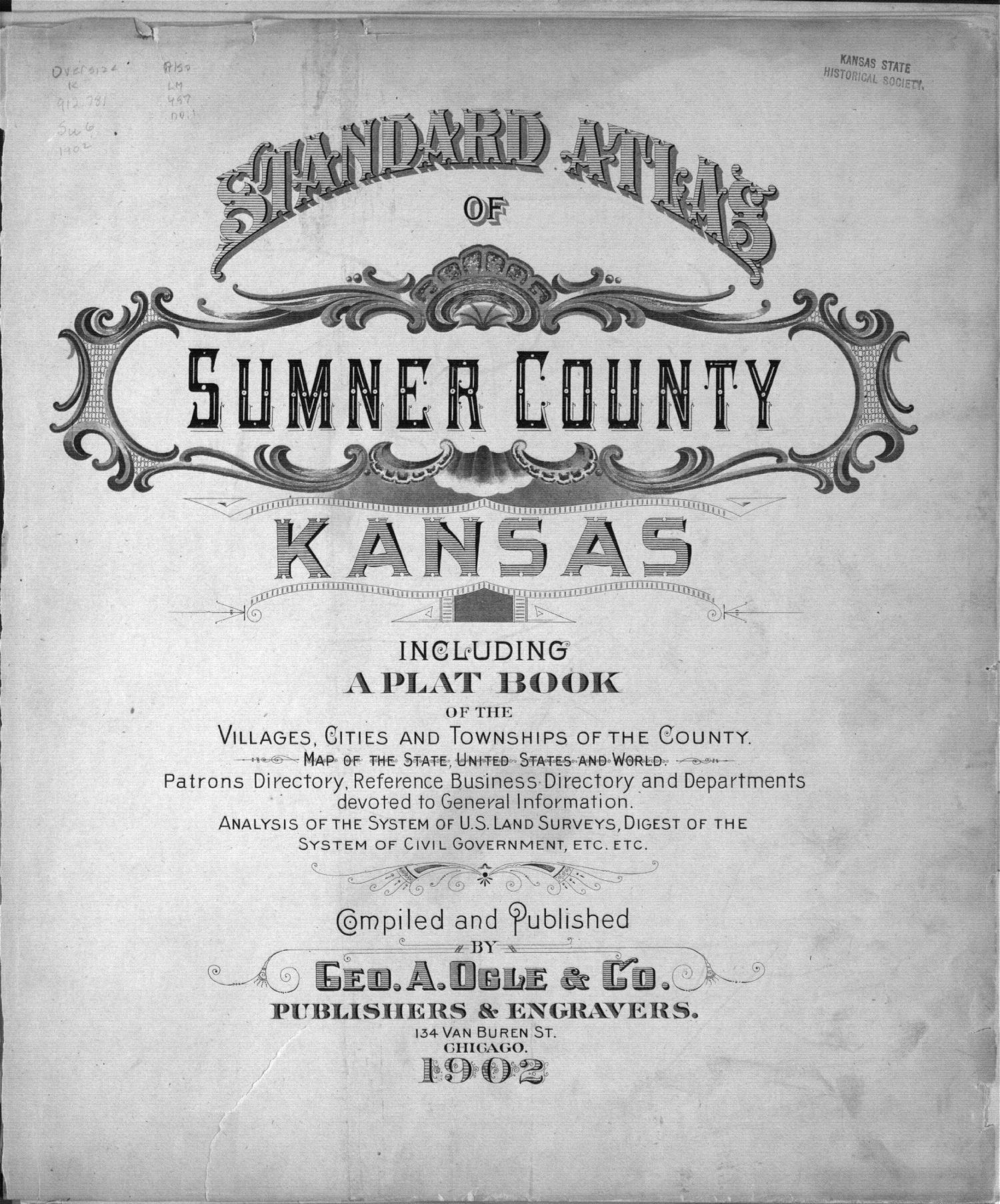 Standard atlas of Sumner County, Kansas - Title Page