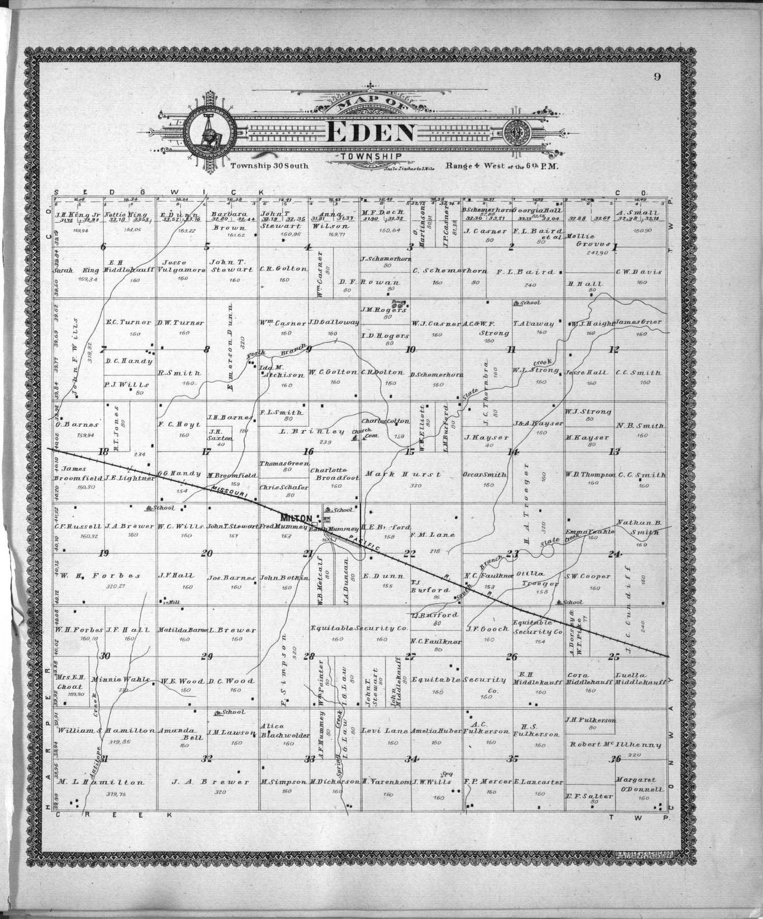 Standard atlas of Sumner County, Kansas - 9