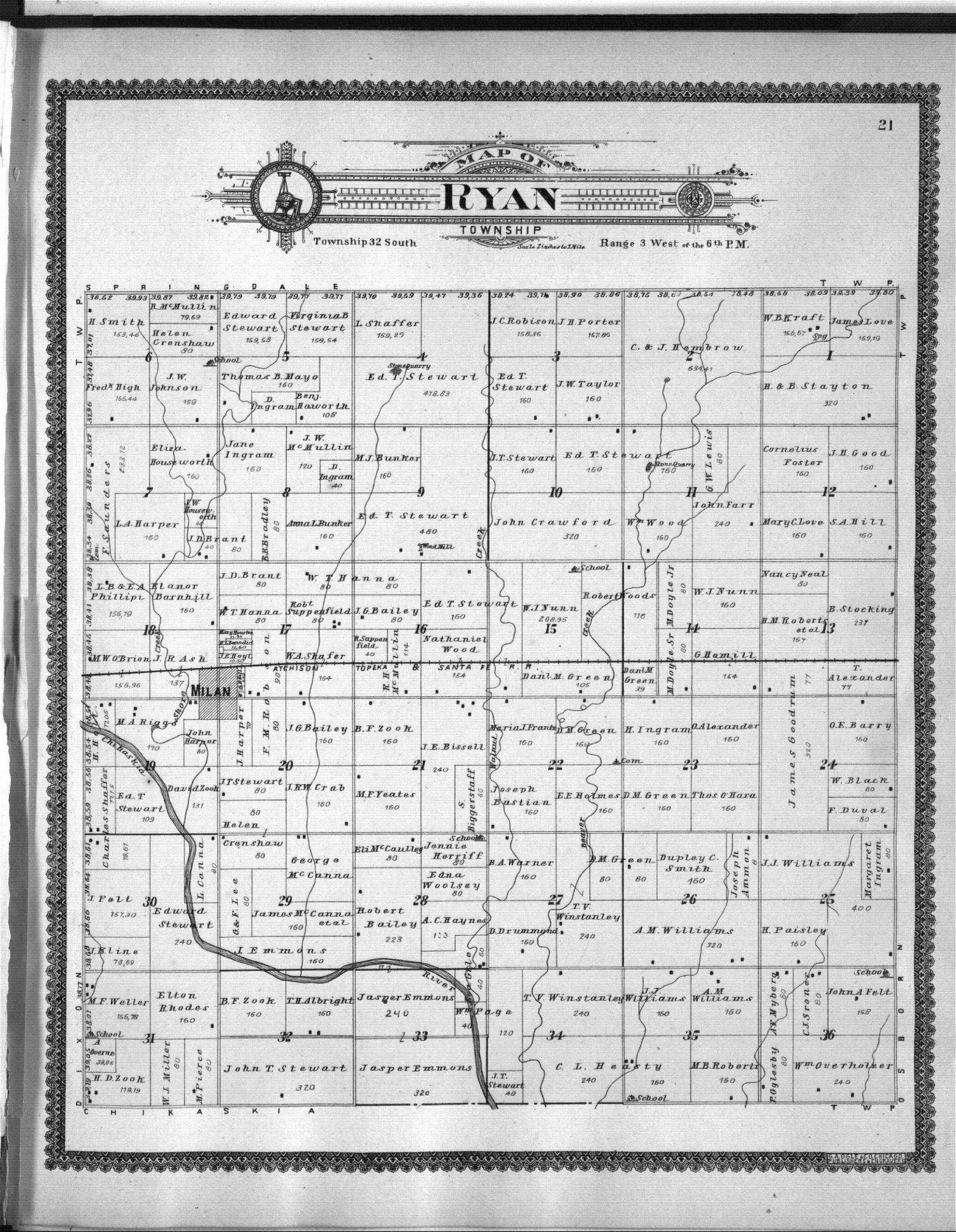 Standard atlas of Sumner County, Kansas - 21
