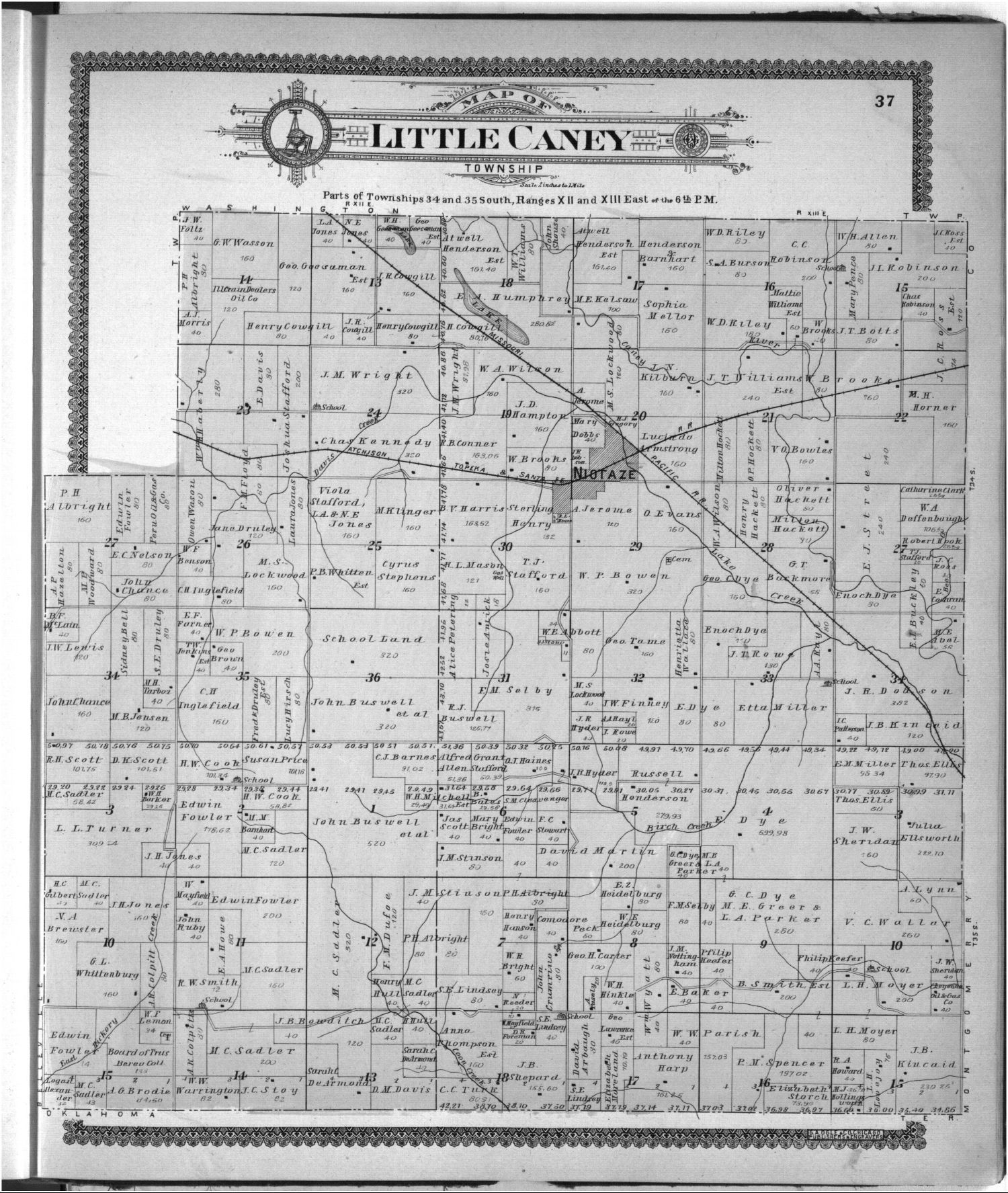 Standard atlas of Chautauqua County, Kansas - 37