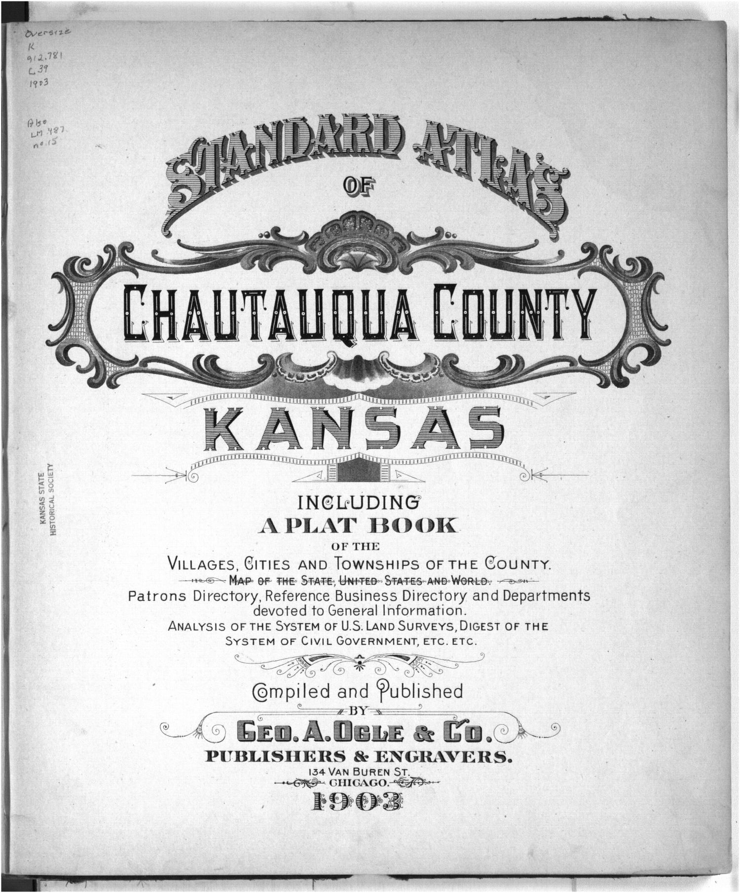 Standard atlas of Chautauqua County, Kansas - Title Page