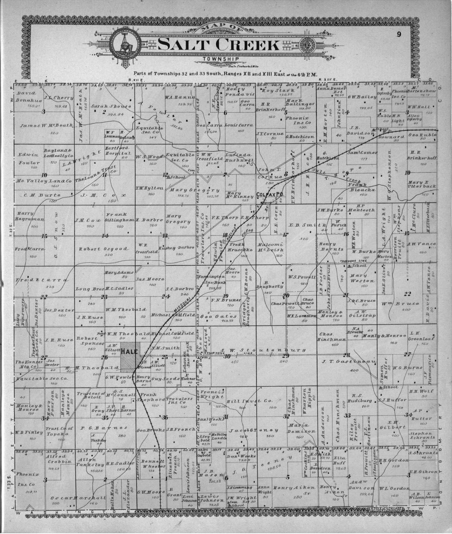 Standard atlas of Chautauqua County, Kansas - 9