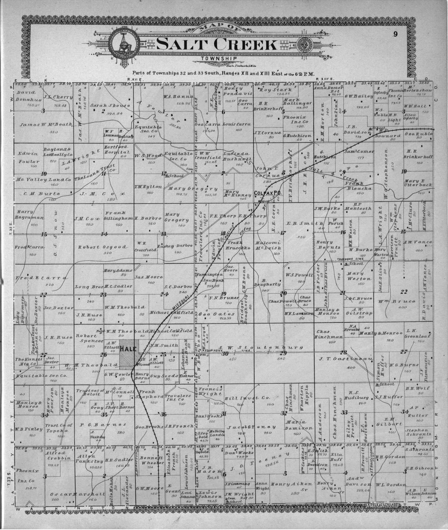 Standard atlas of Chautauqua County, Kansas - 9