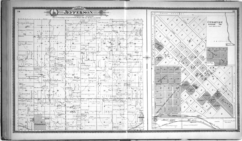Standard atlas of Chautauqua County, Kansas - 24 & 25