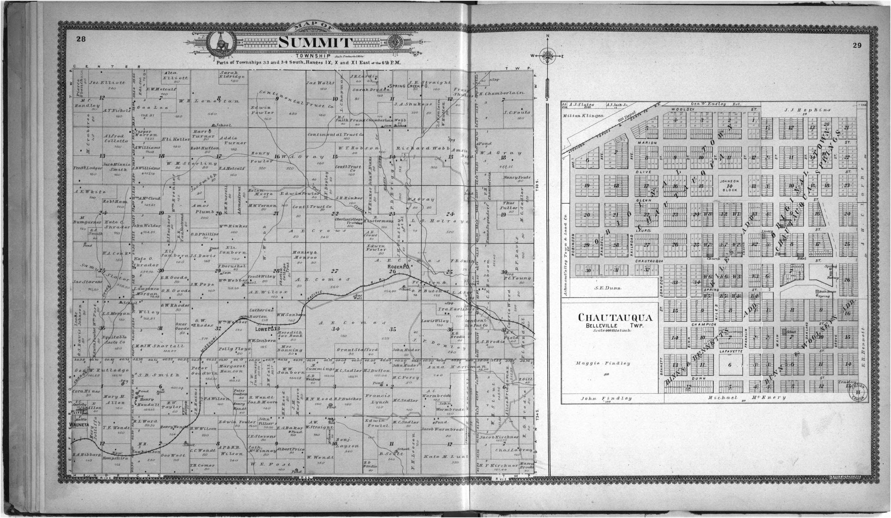 Standard atlas of Chautauqua County, Kansas - 28 & 29