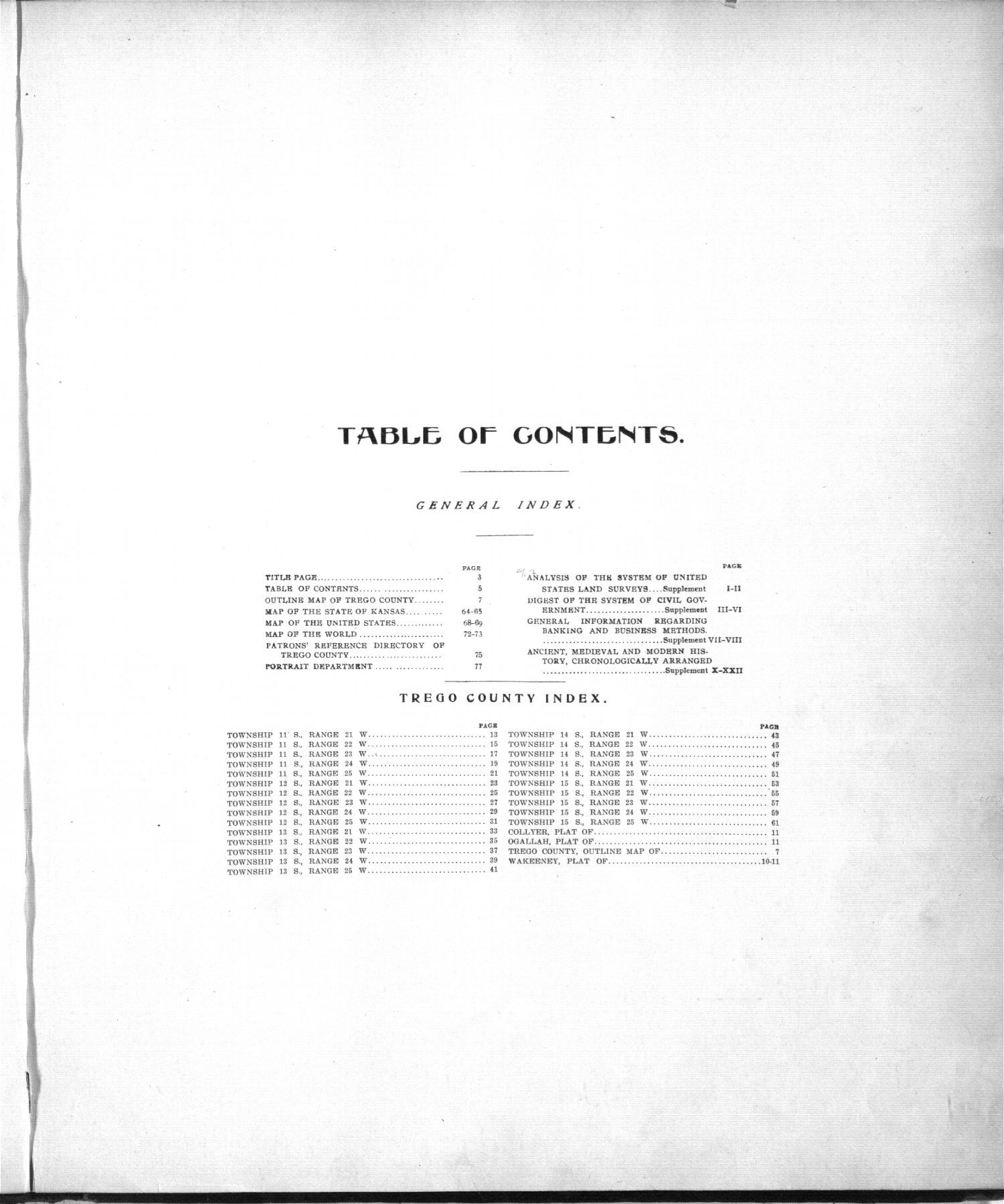 Standard atlas of Trego County, Kansas - 4
