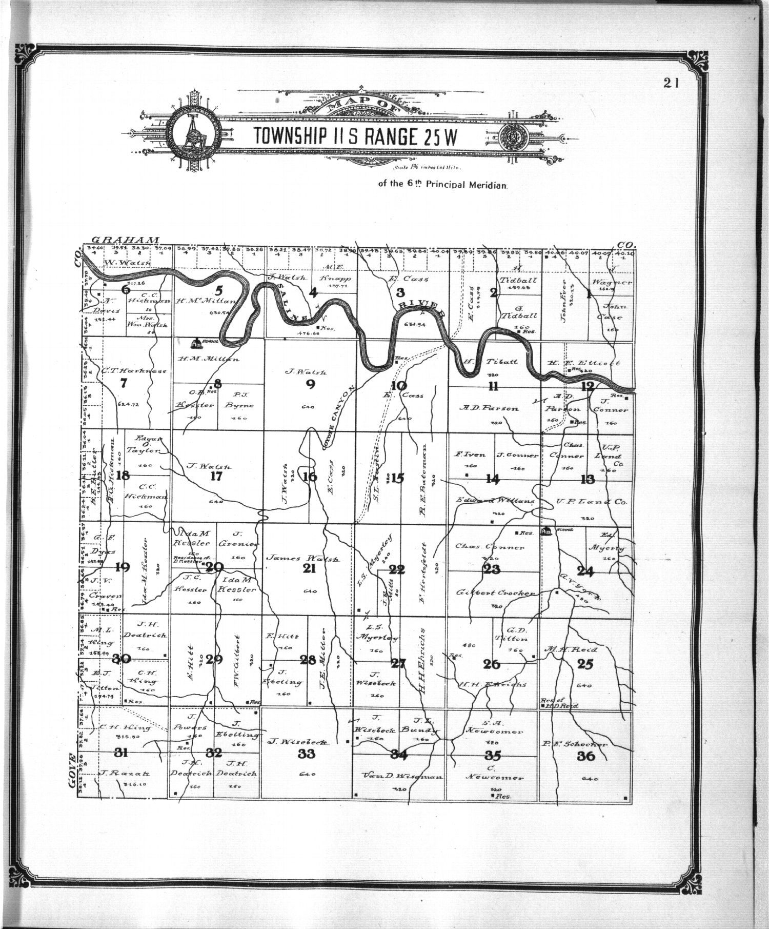 Standard atlas of Trego County, Kansas - 11