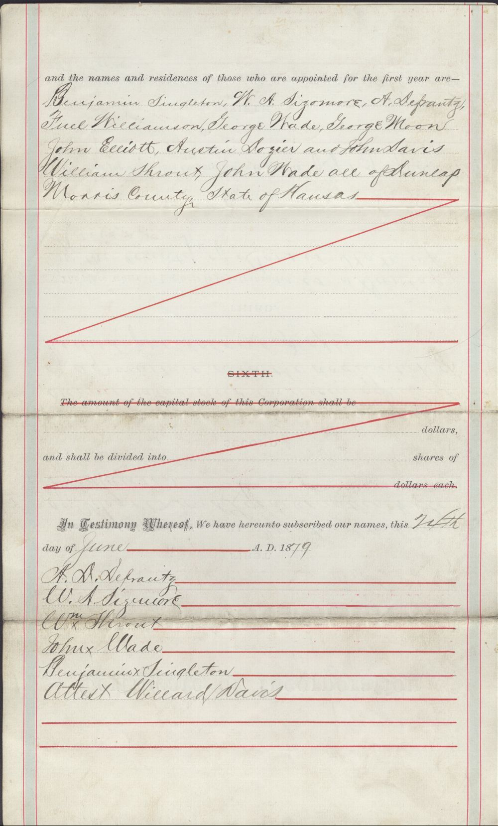 Certificate of Incorporation for the Singleton colony - 2