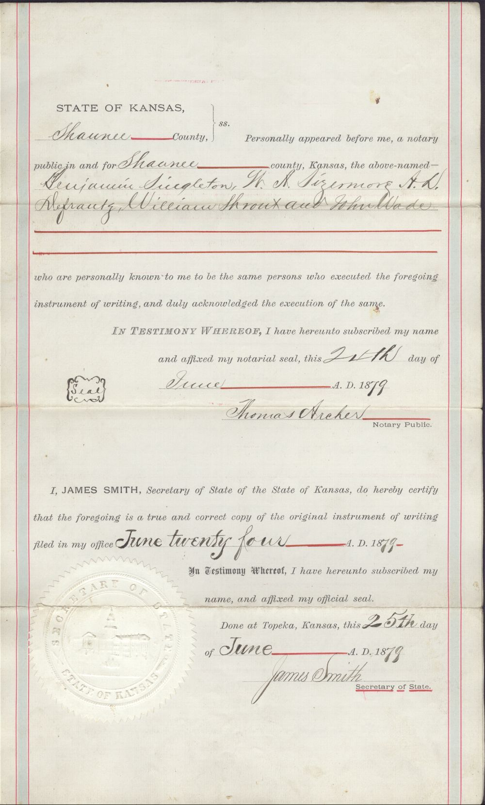 Certificate of Incorporation for the Singleton colony - 3