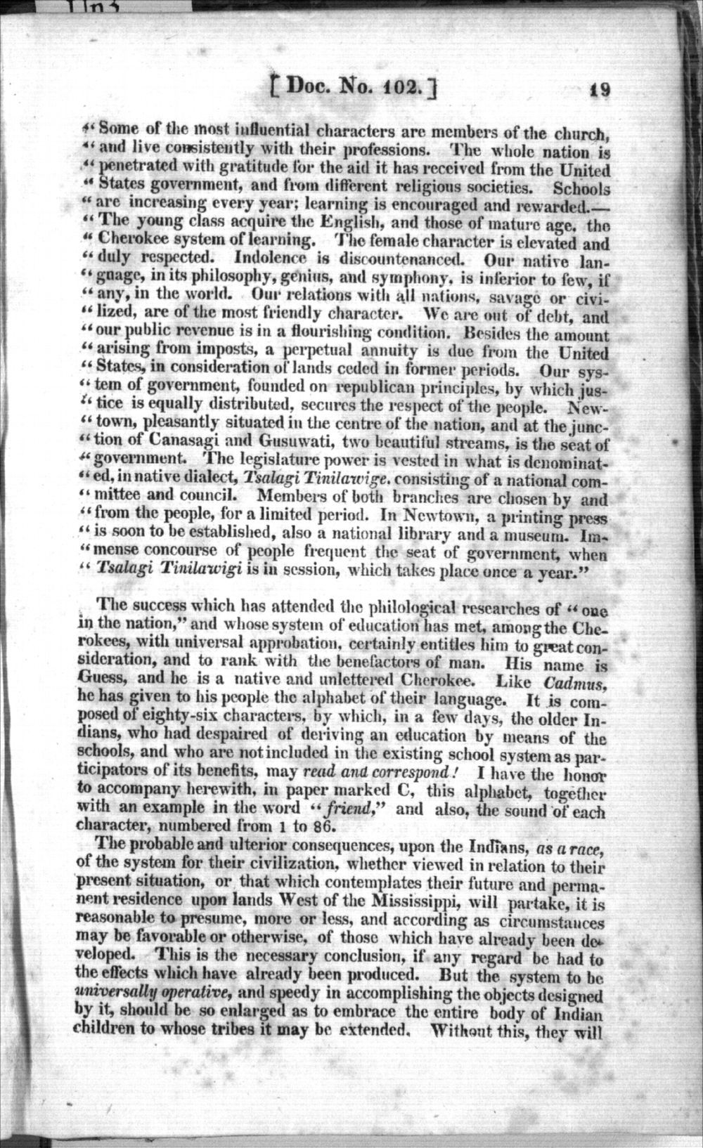 Thomas L. McKenney to James Barbour - 5