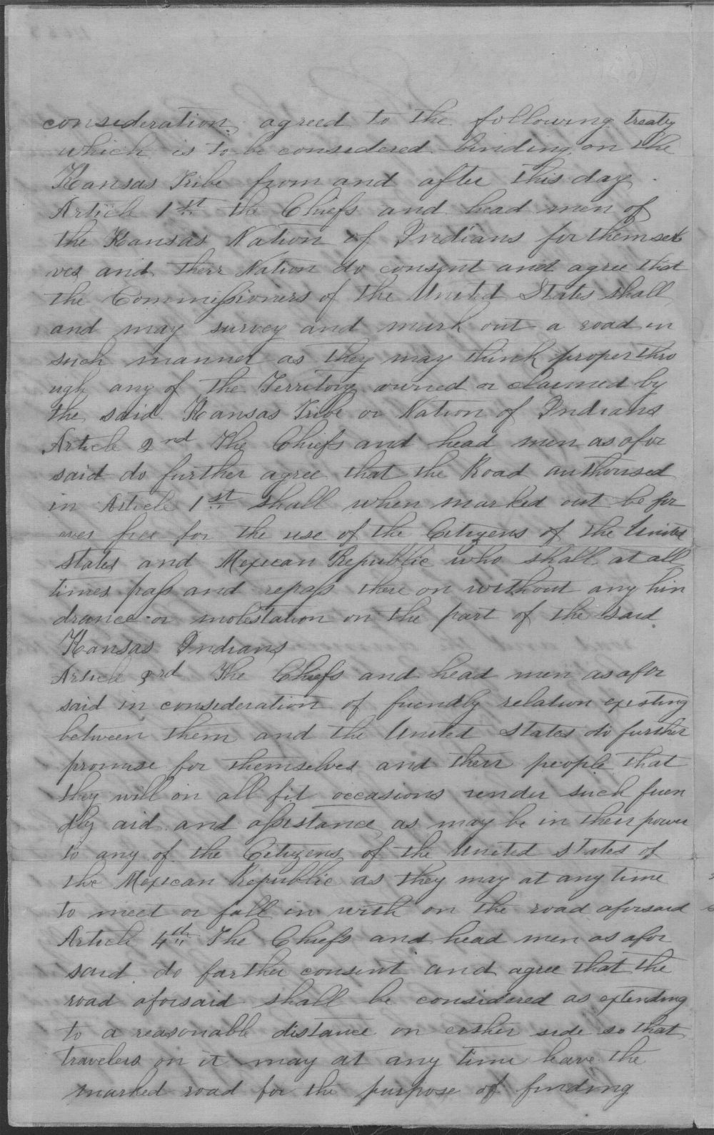 Treaty between the U.S. government and Kansa tribe - 2