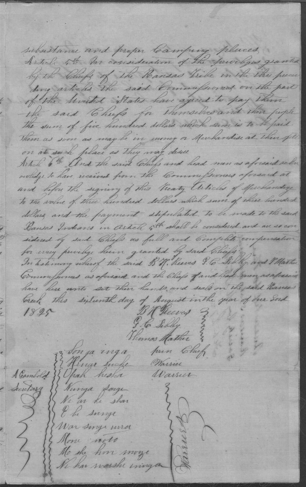 Treaty between the U.S. government and Kansa tribe - 3