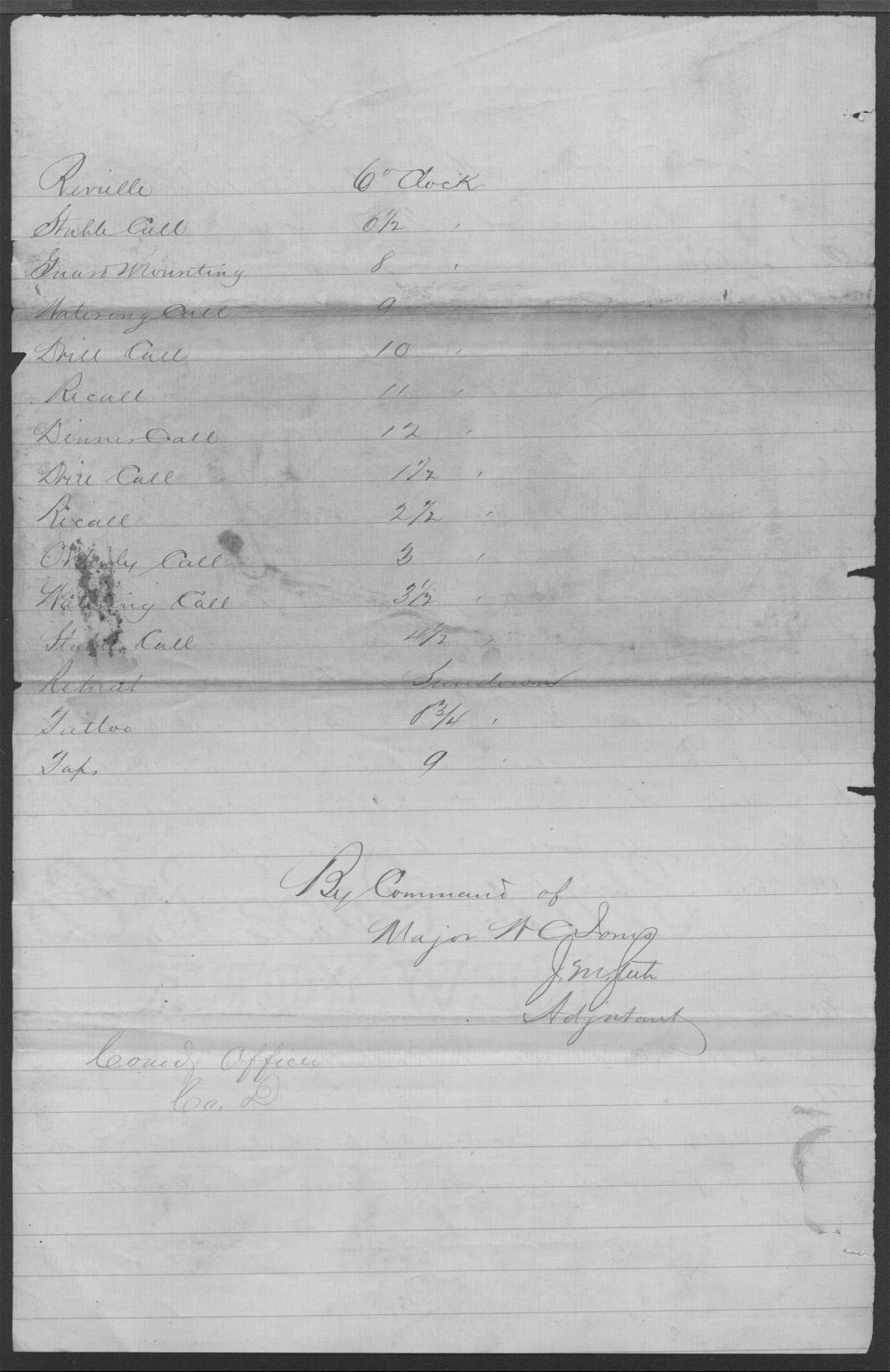 General Order No. 2, 19th Kansas Cavalry - 2