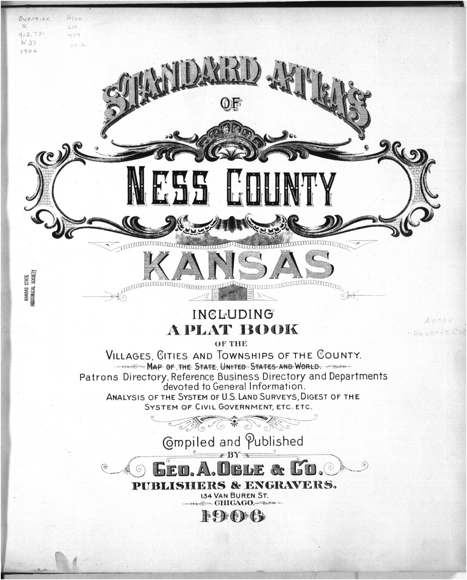 Standard atlas of Ness County, Kansas - Title Page
