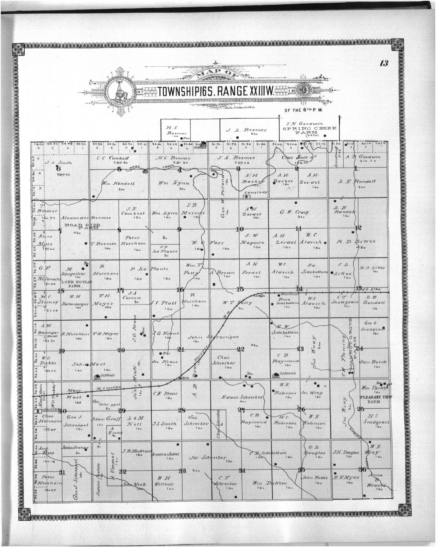 Standard atlas of Ness County, Kansas - 13