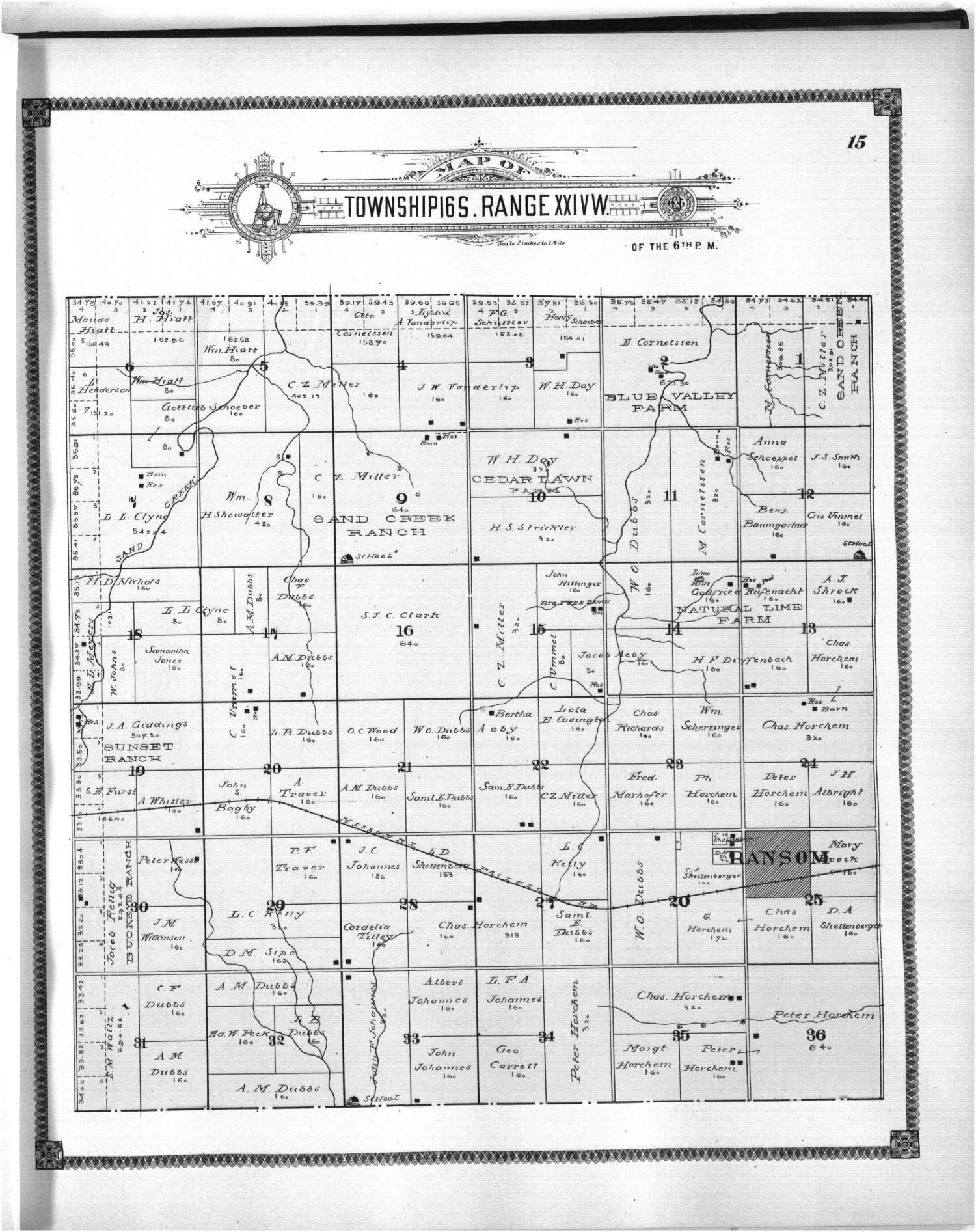 Standard atlas of Ness County, Kansas - 15