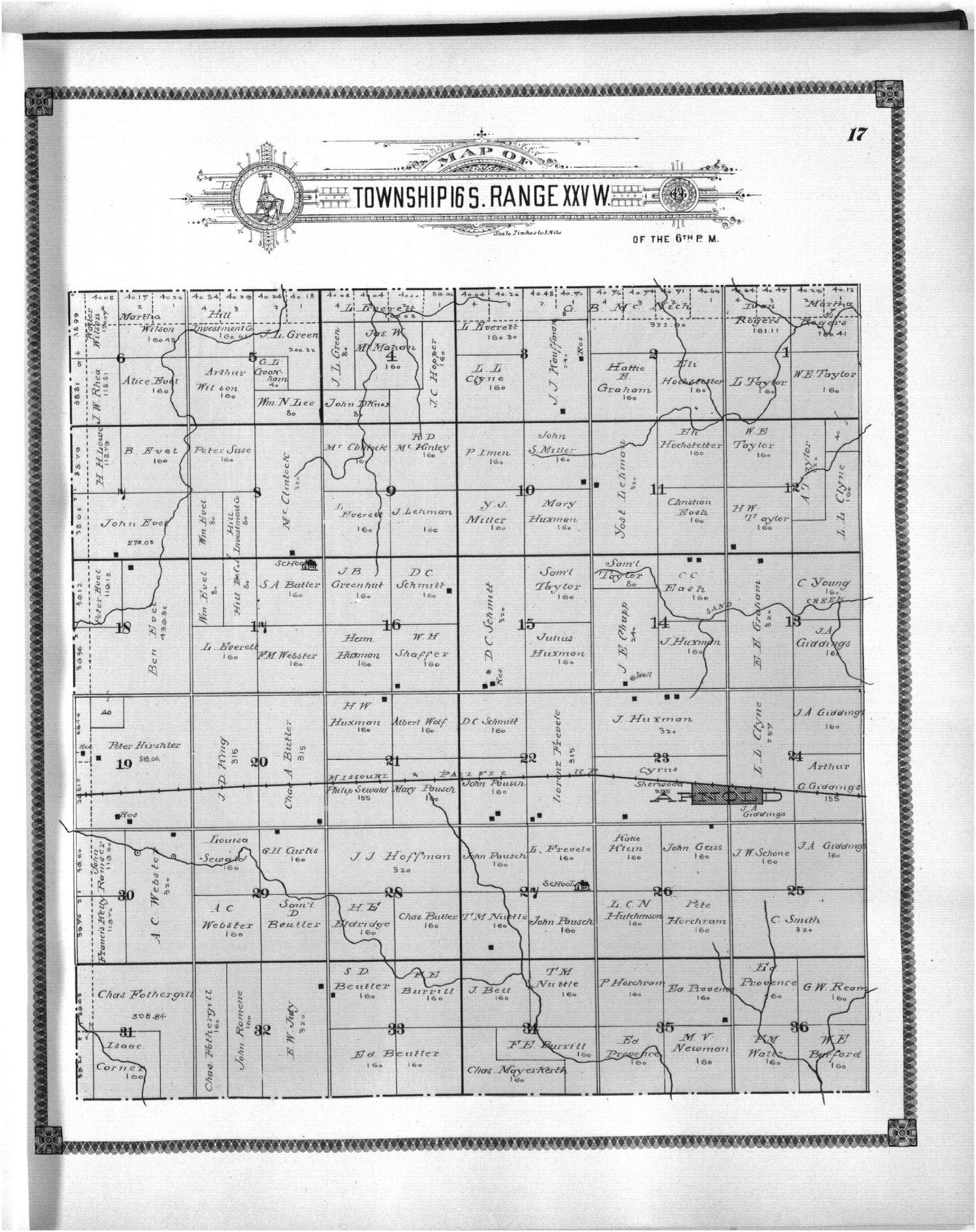 Standard atlas of Ness County, Kansas - 17