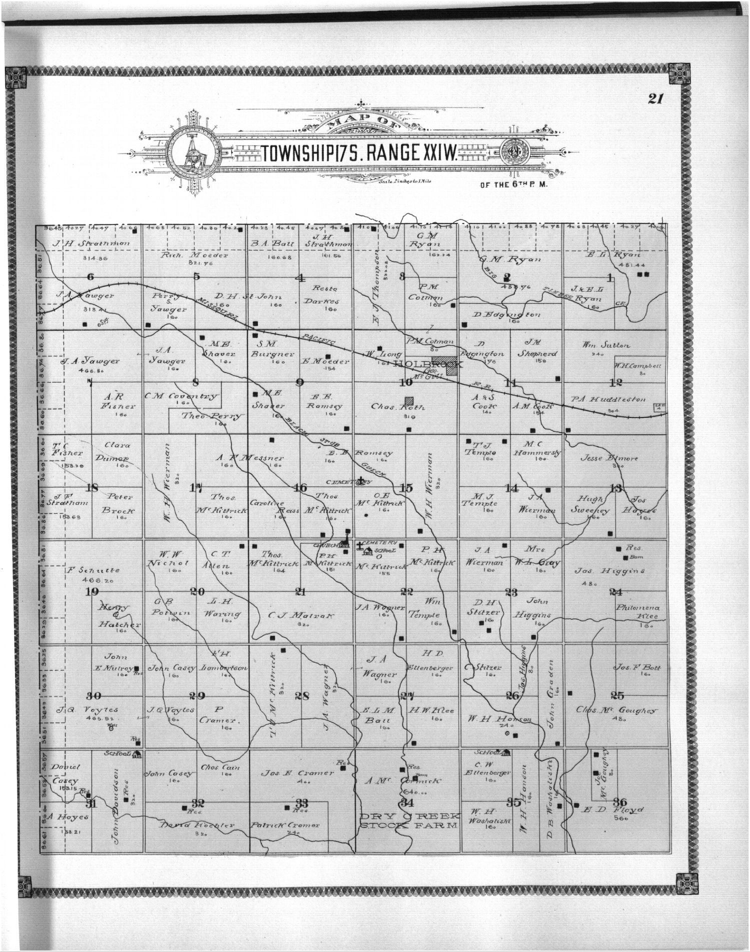 Standard atlas of Ness County, Kansas - 21