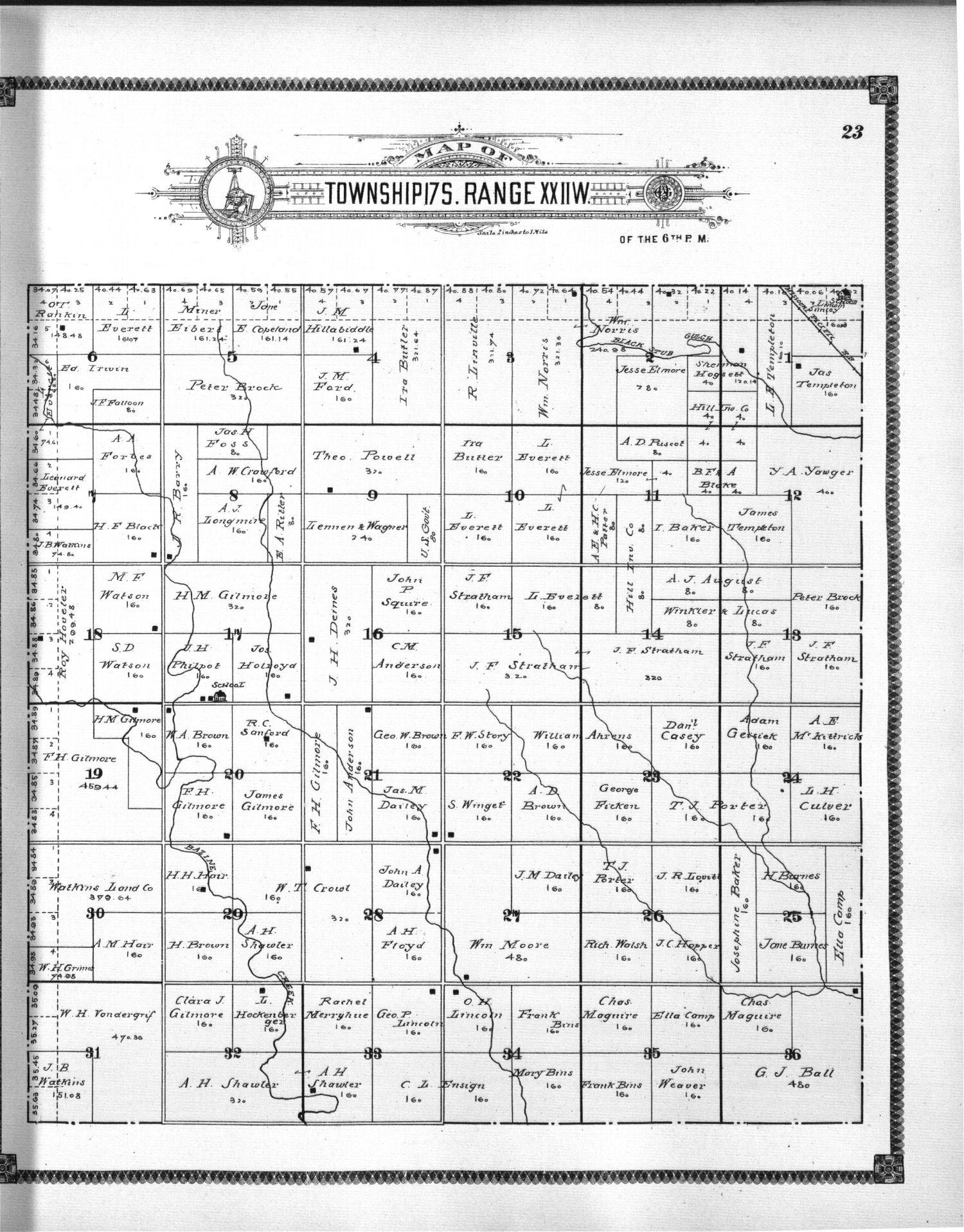 Standard atlas of Ness County, Kansas - 23