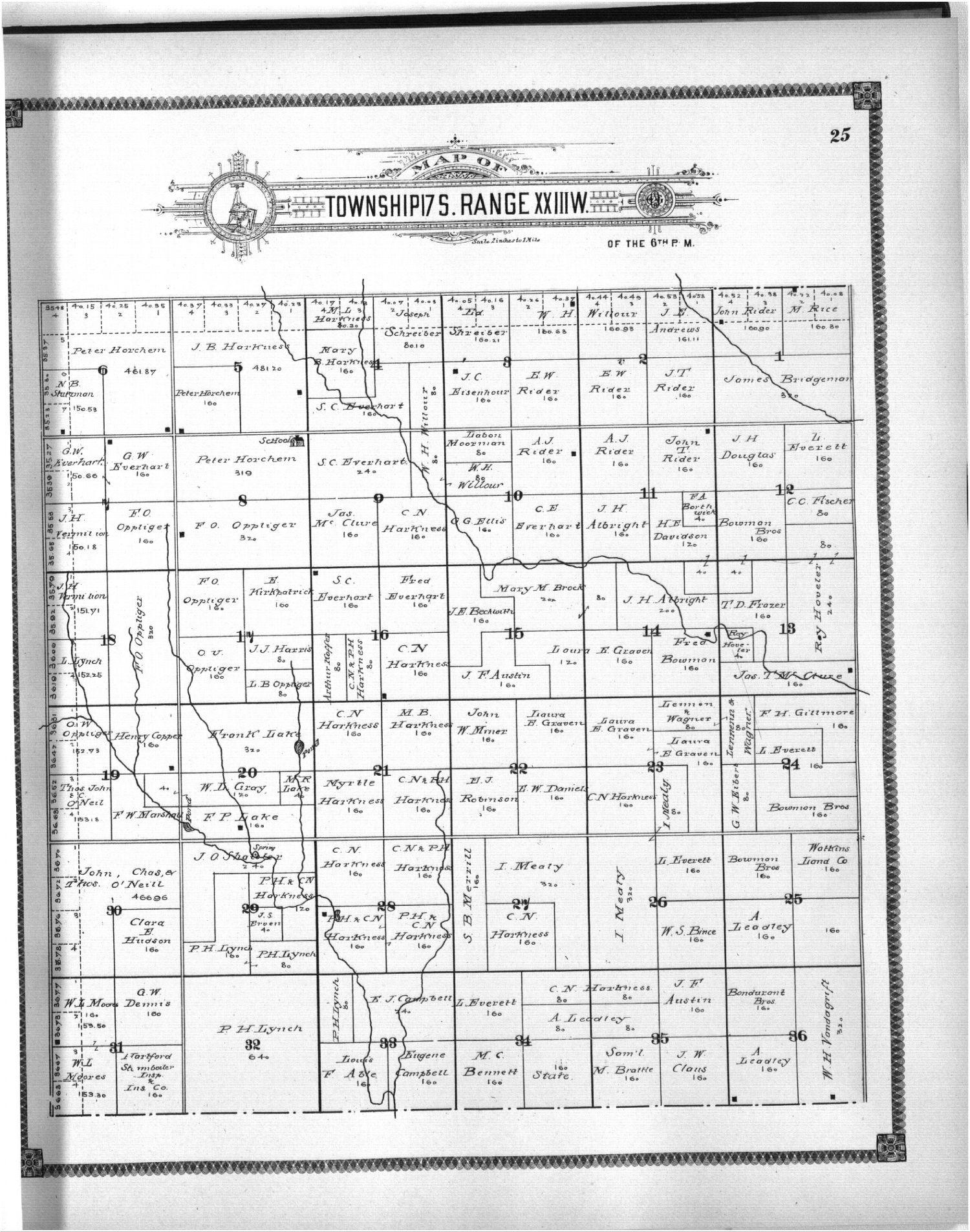 Standard atlas of Ness County, Kansas - 25