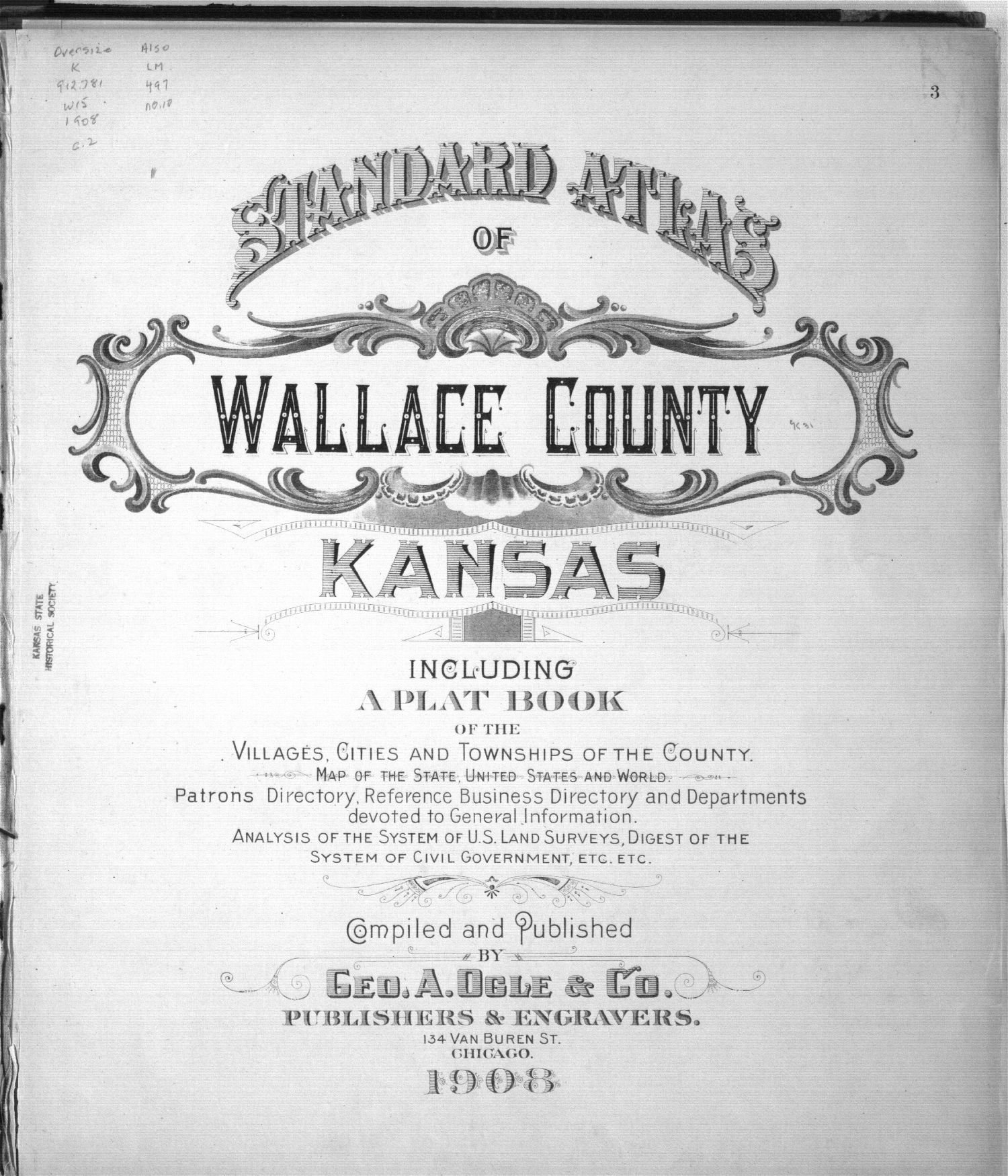 Standard atlas of Wallace County, Kansas - Title Page