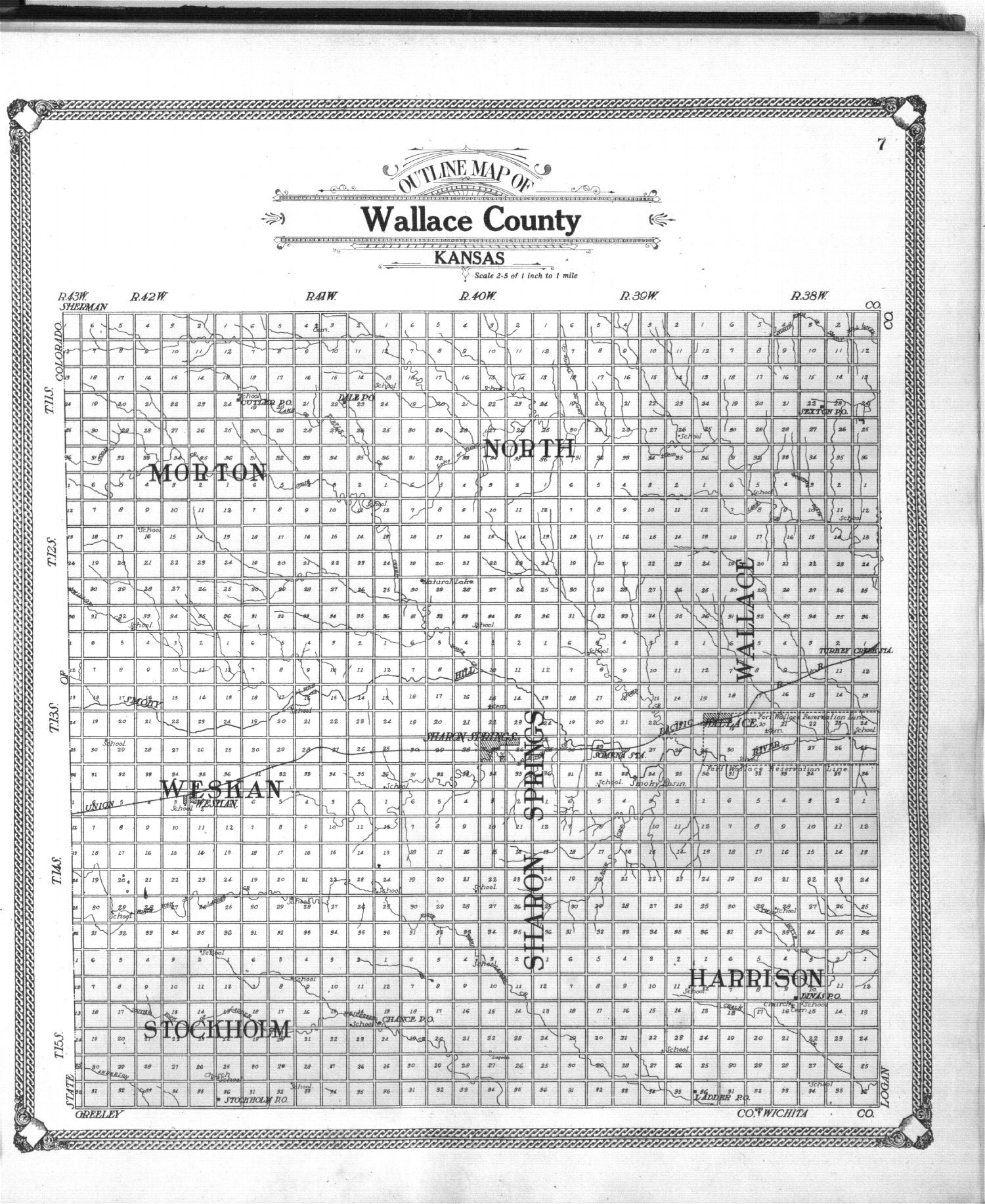 Standard atlas of Wallace County, Kansas - 7