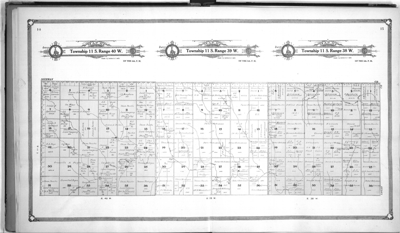 Standard atlas of Wallace County, Kansas - 14 & 15