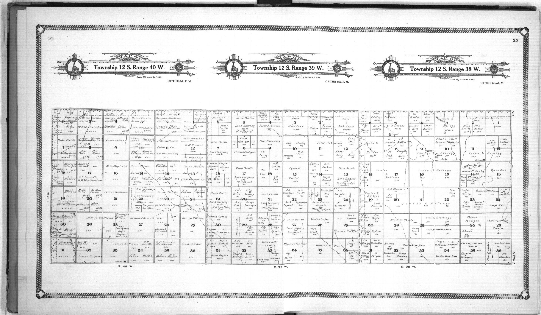 Standard atlas of Wallace County, Kansas - 22 & 23