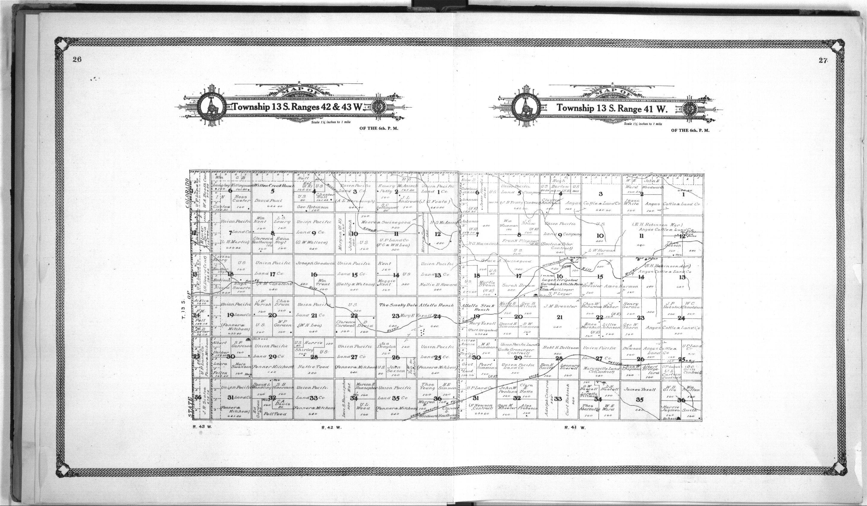 Standard atlas of Wallace County, Kansas - 26 & 27