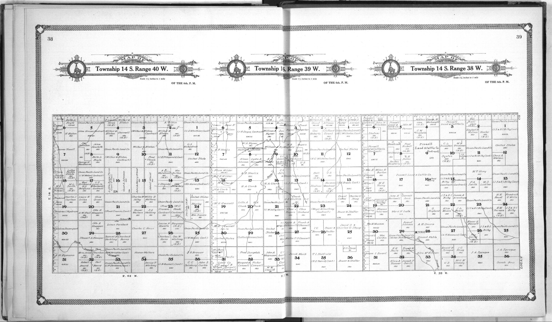 Standard atlas of Wallace County, Kansas - 38 & 39