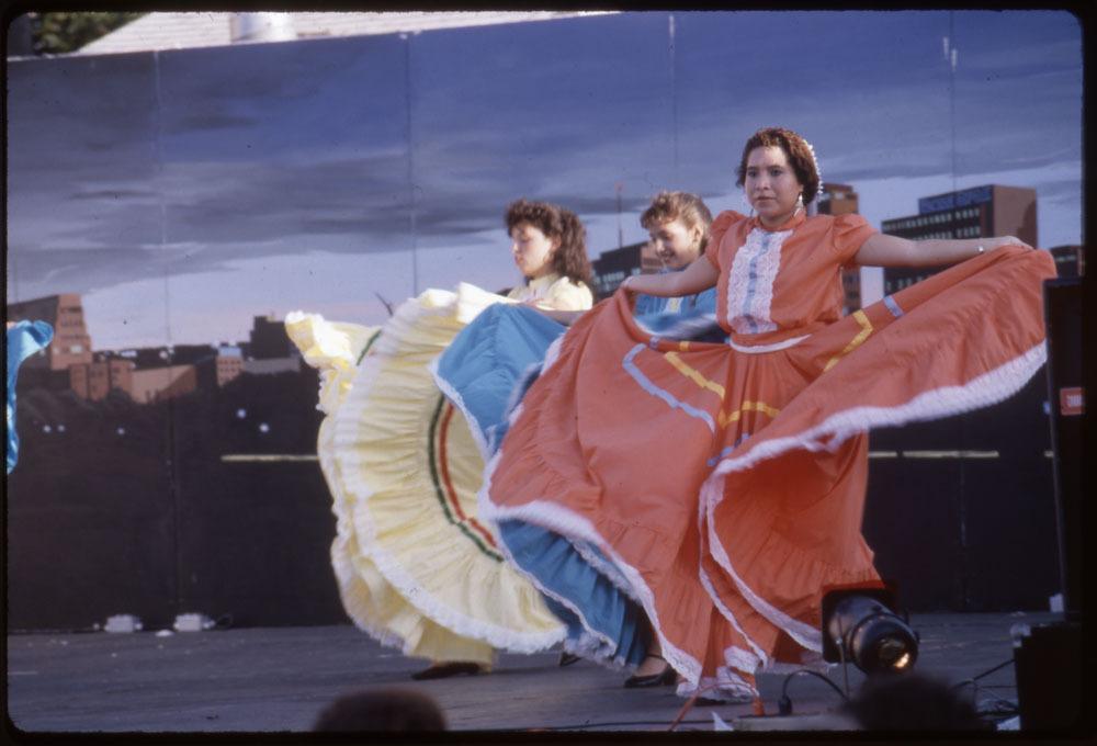 Young women dancing at the Mexican Fiesta, Topeka, Kansas