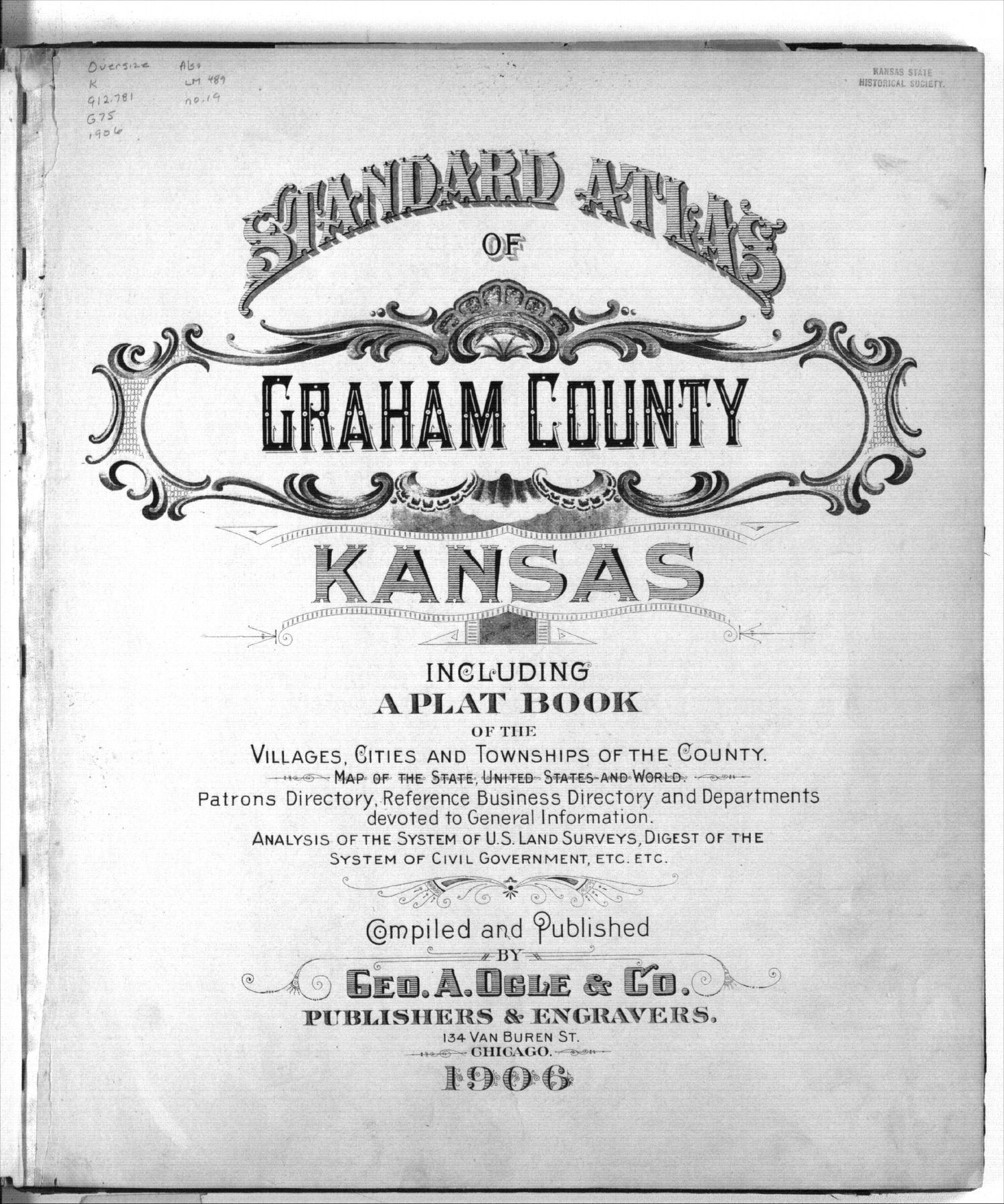 Standard atlas of Graham County, Kansas - Title page
