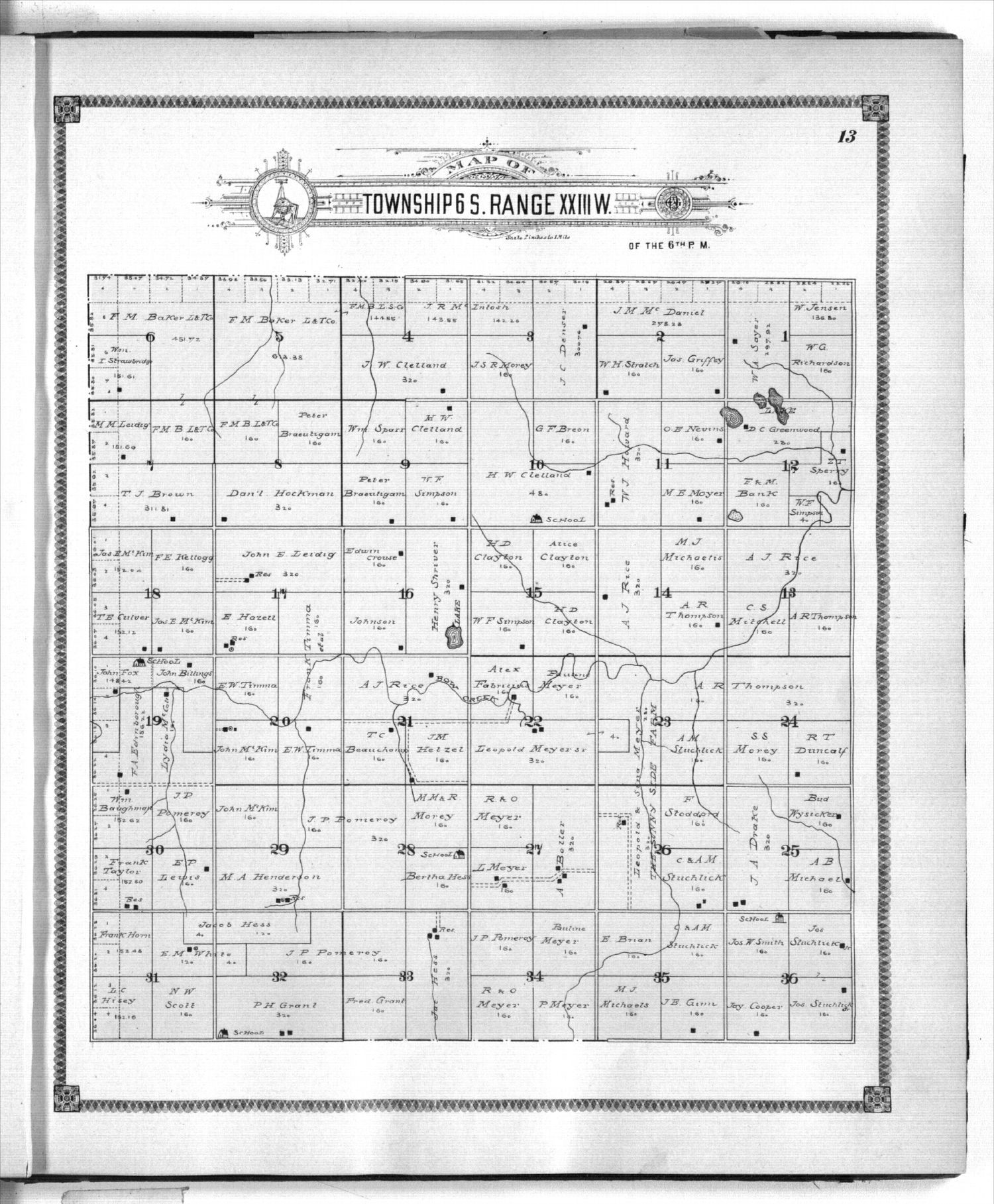 Standard atlas of Graham County, Kansas - 13