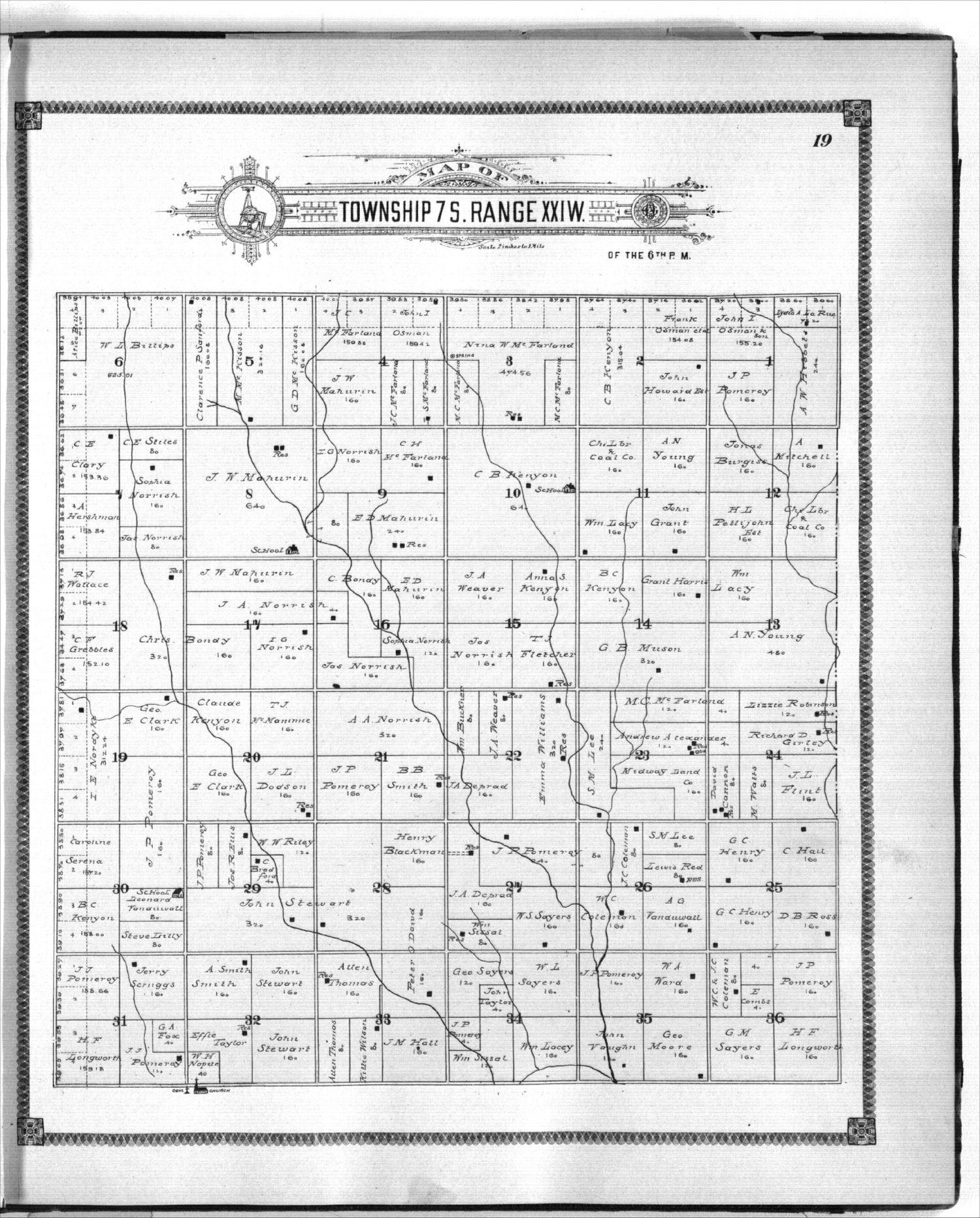 Standard atlas of Graham County, Kansas - 19