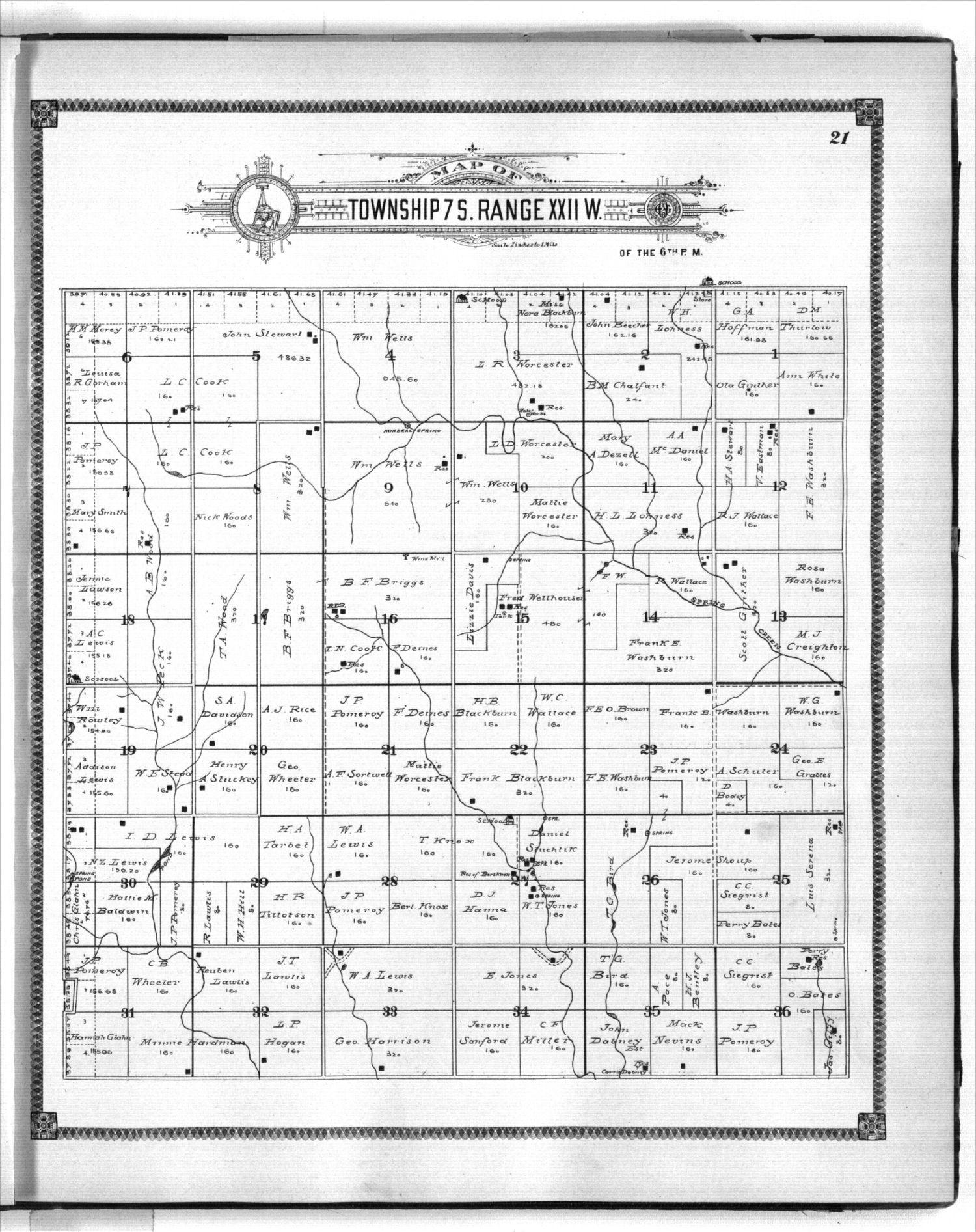 Standard atlas of Graham County, Kansas - 21