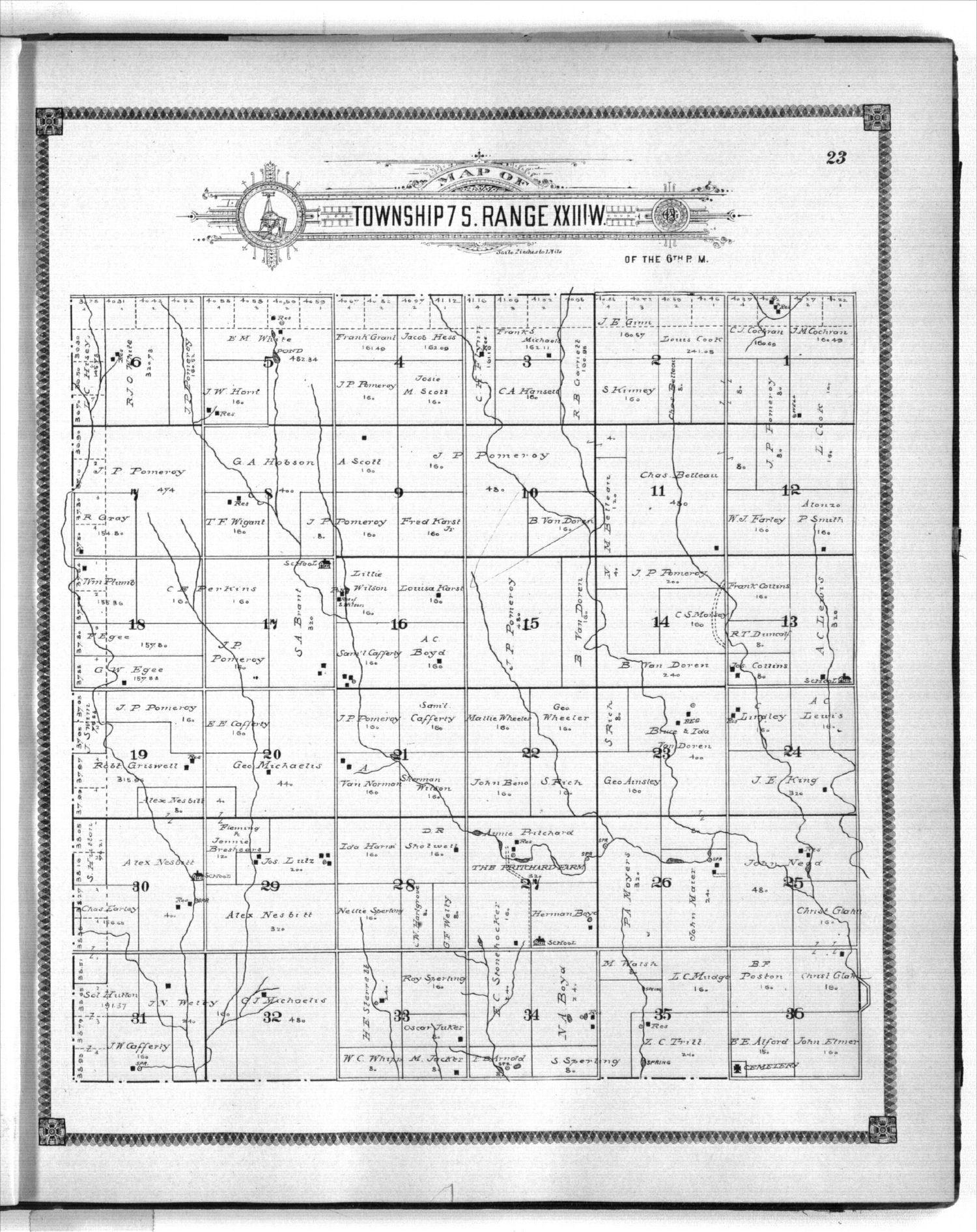 Standard atlas of Graham County, Kansas - 23