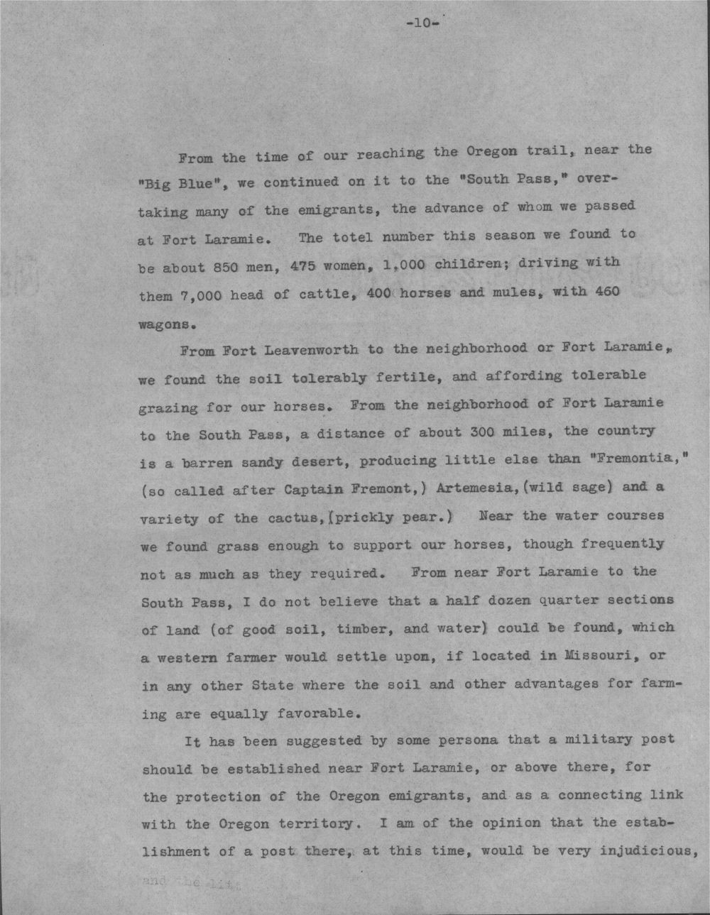 Report of a summer campaign to the Rocky Mountains, etc., in 1845 - 10